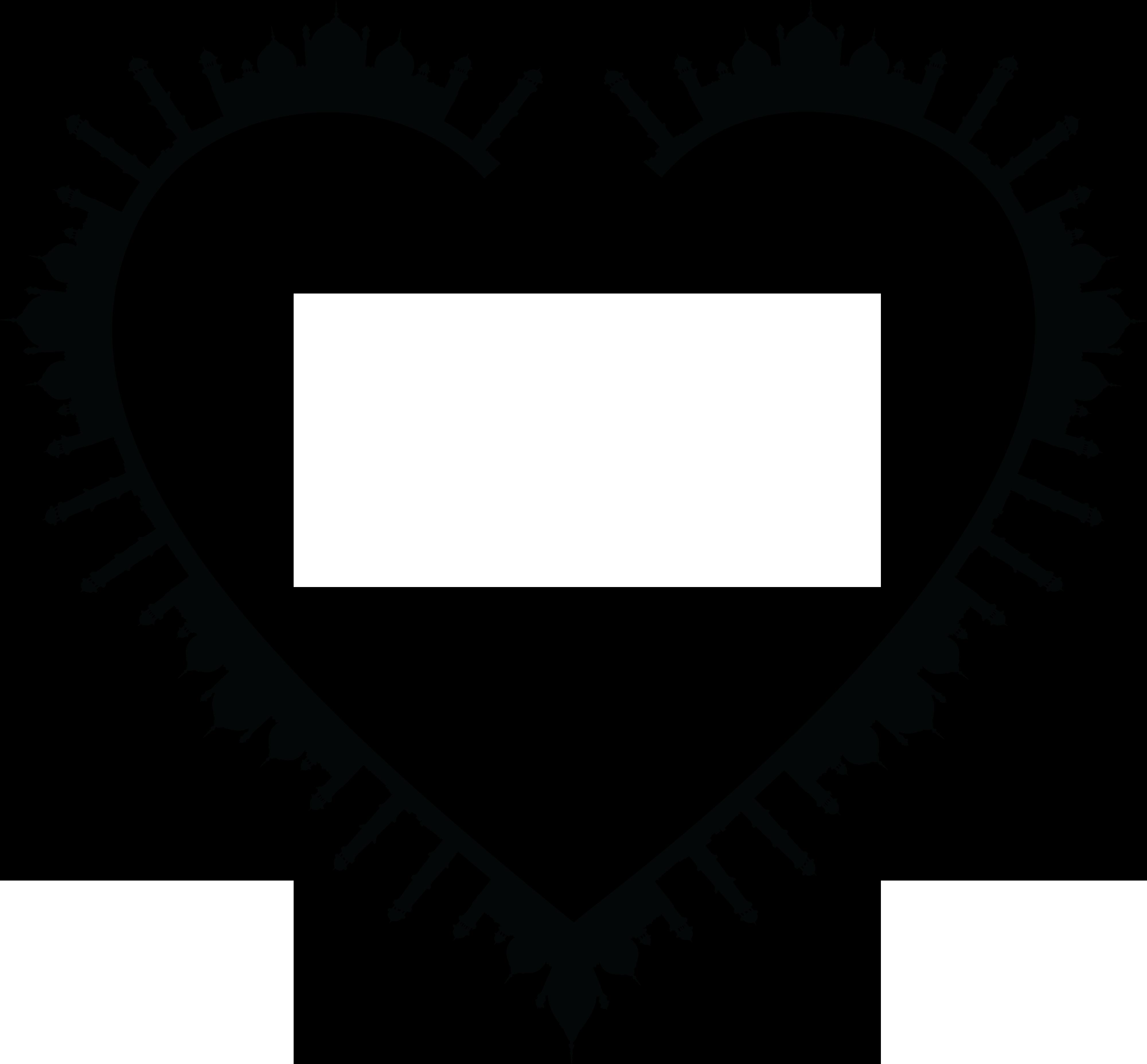Big Image - Love Frame Black And White Clipart (#387719 ... |Love Black Frame