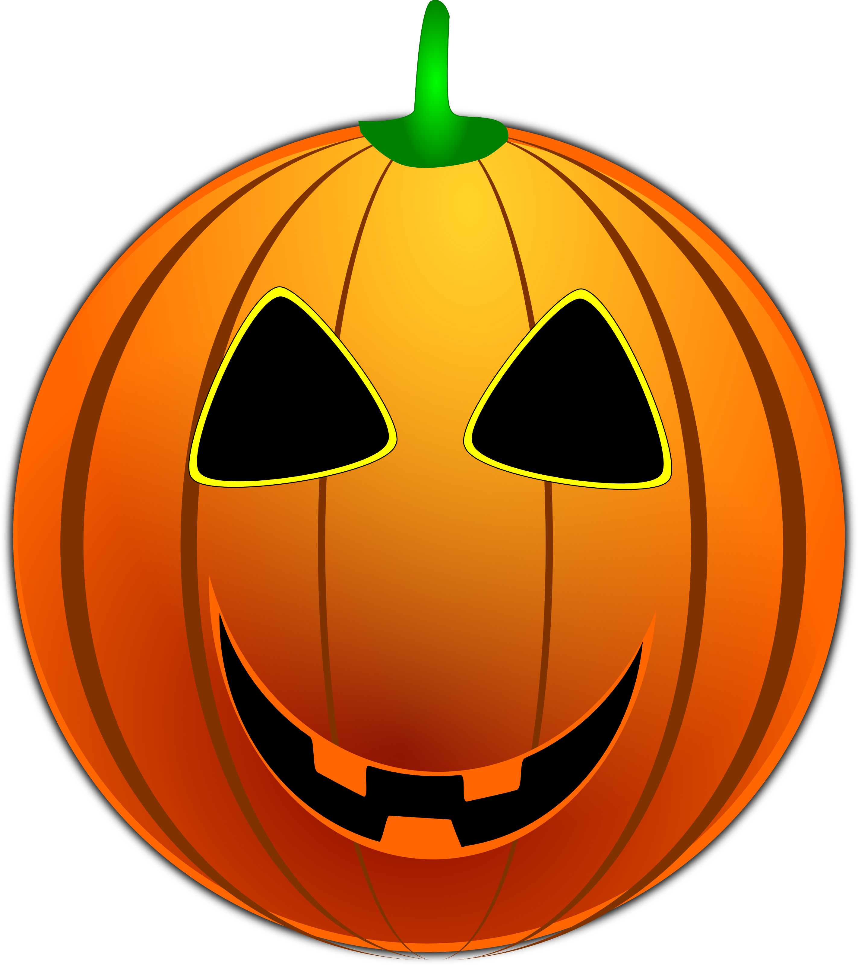 Grinning jackolantern free halloween vector clipart for Halloween pumpkin clipart
