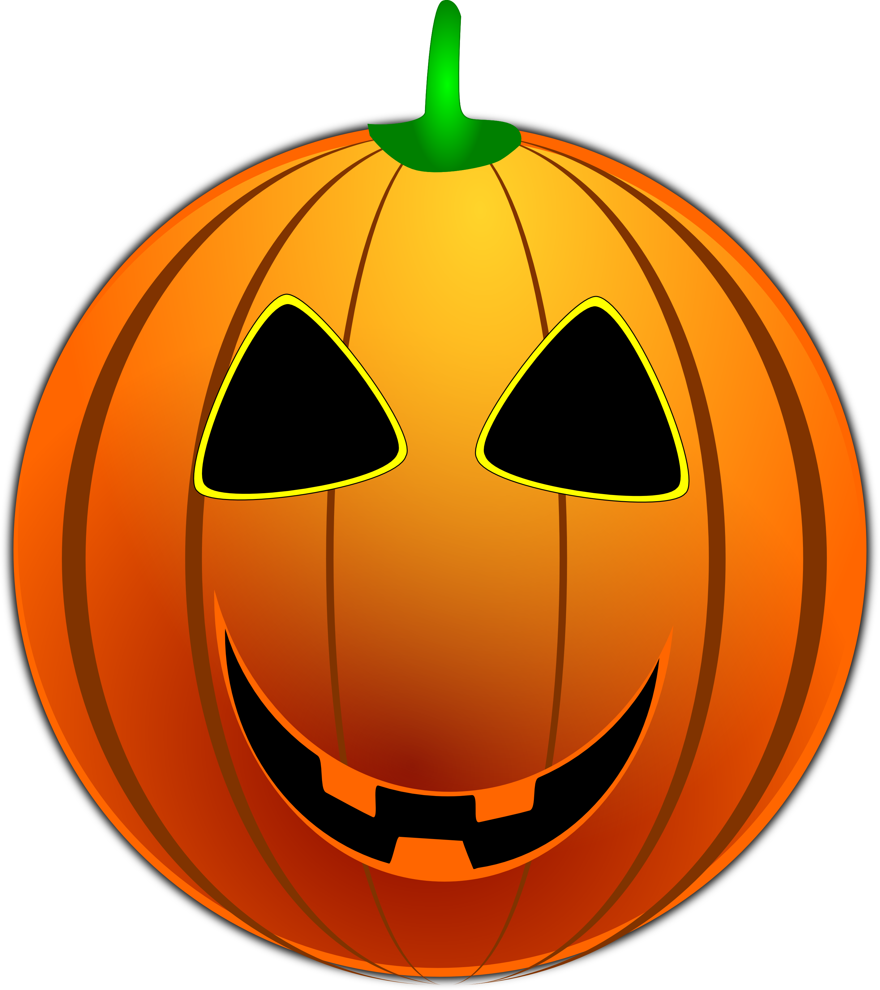 Free vector graphic of a toothy halloween jackolantern emoticon face