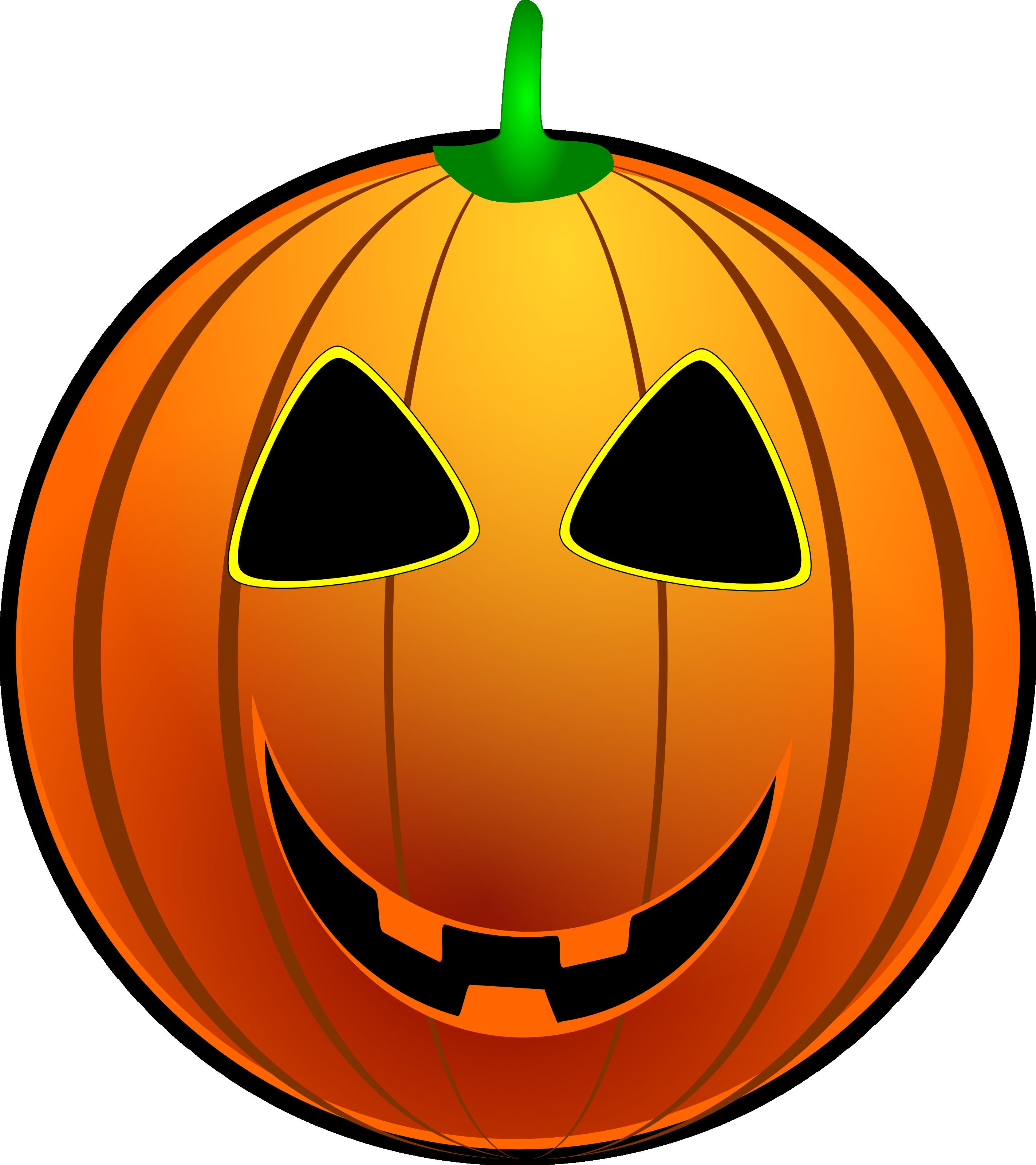 Grinning Jackolantern - Free Halloween Vector Clipart ...