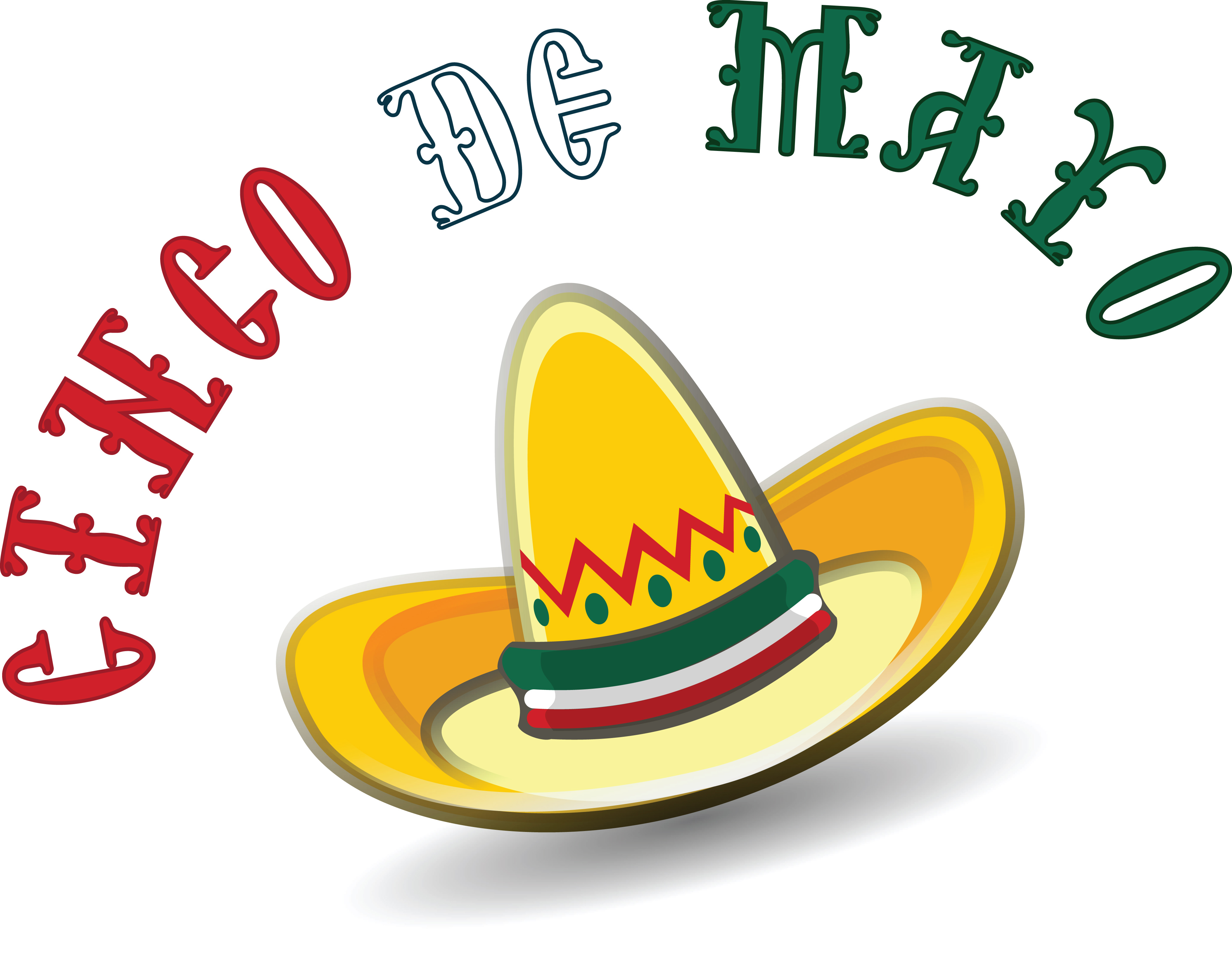 free clipart of a mexican sombrero with cinco de mayo text rh free clipartof com sombrero clip art black and white mexican sombrero clip art free