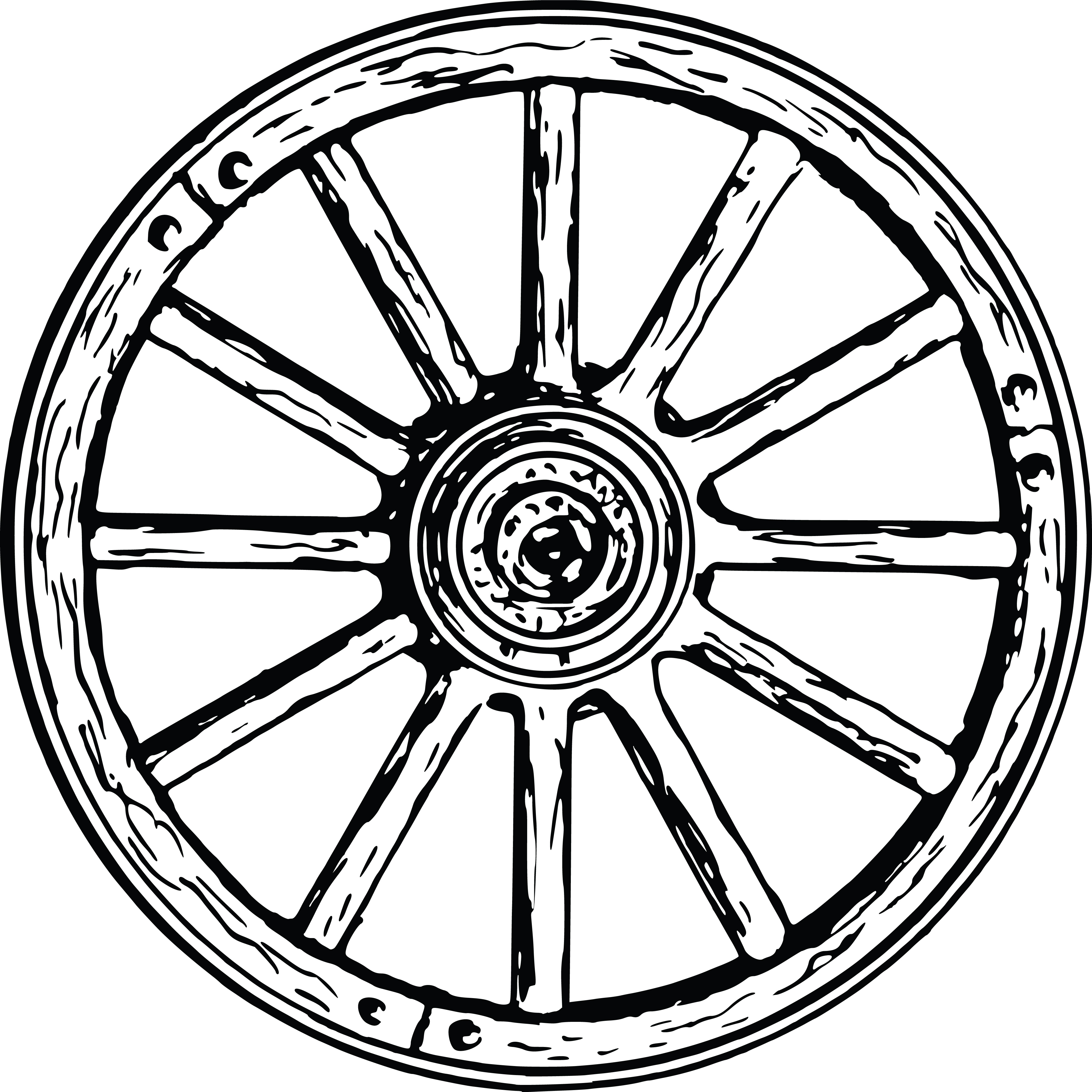free clipart of a wagon wheel rh free clipartof com  wagon wheel clipart free