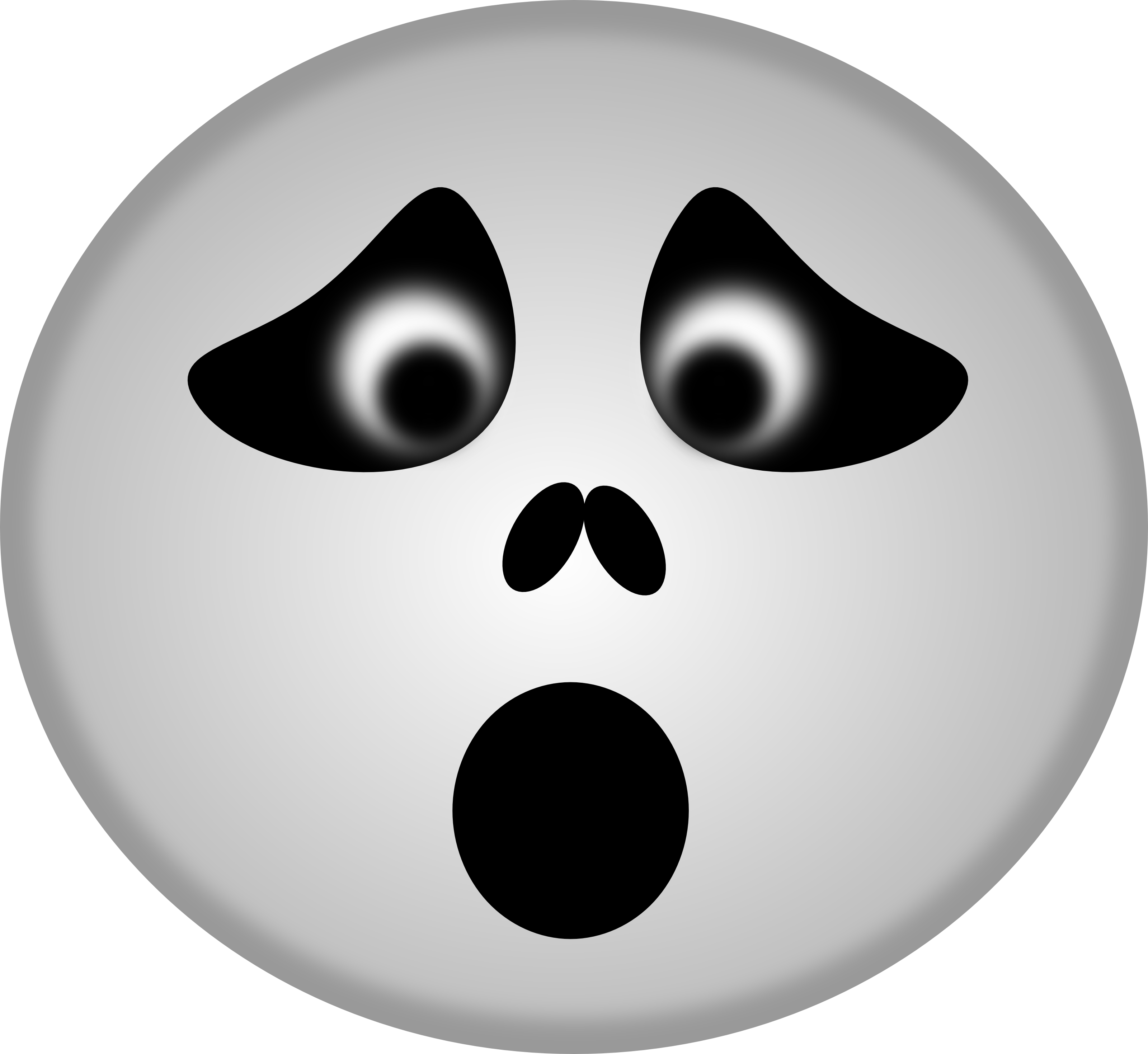 Ghost smiley free halloween vector clipart illustration by 0001107