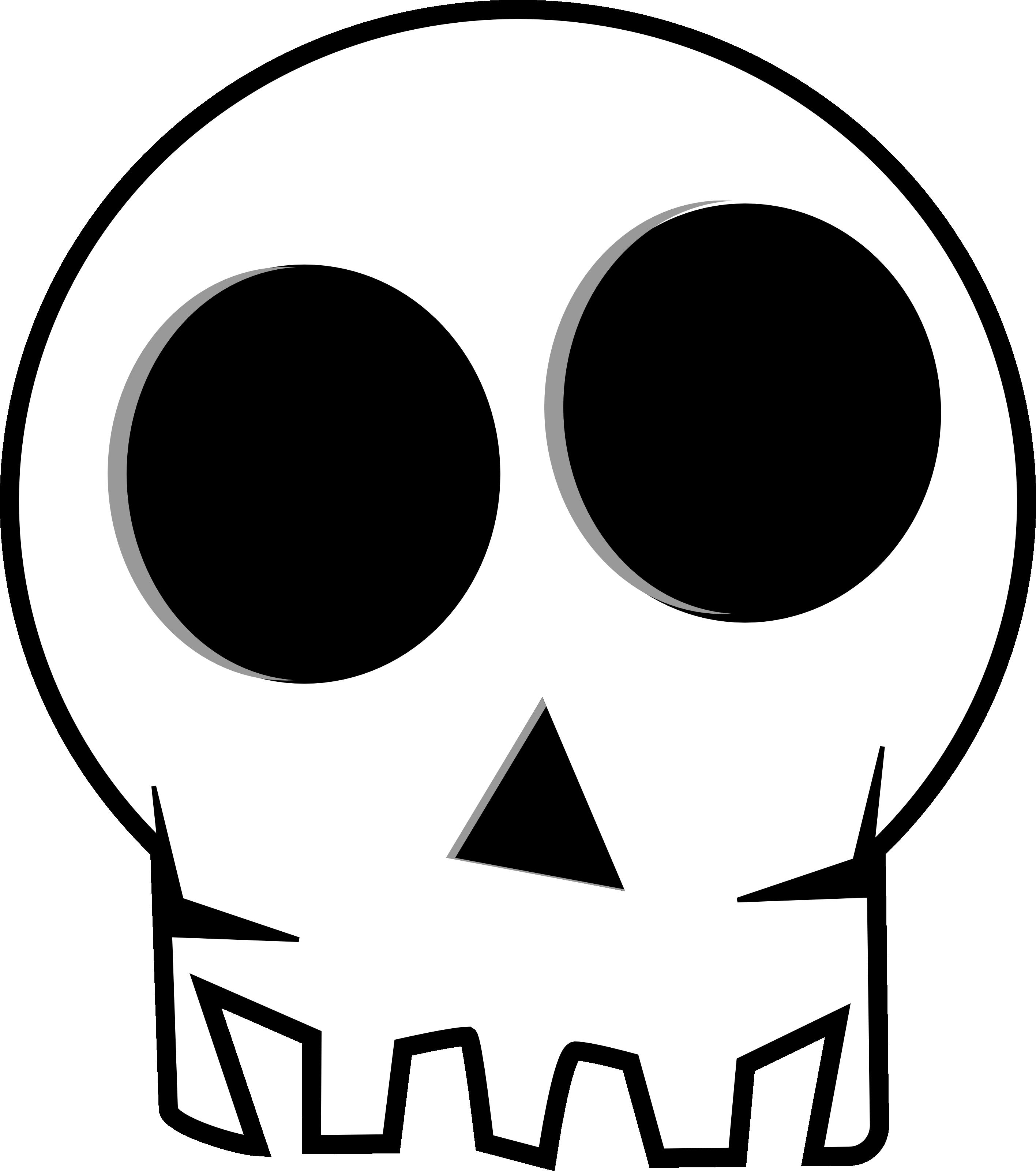Huge Eye Socketed Skull - Free Halloween Vector Clipart Illustration ...