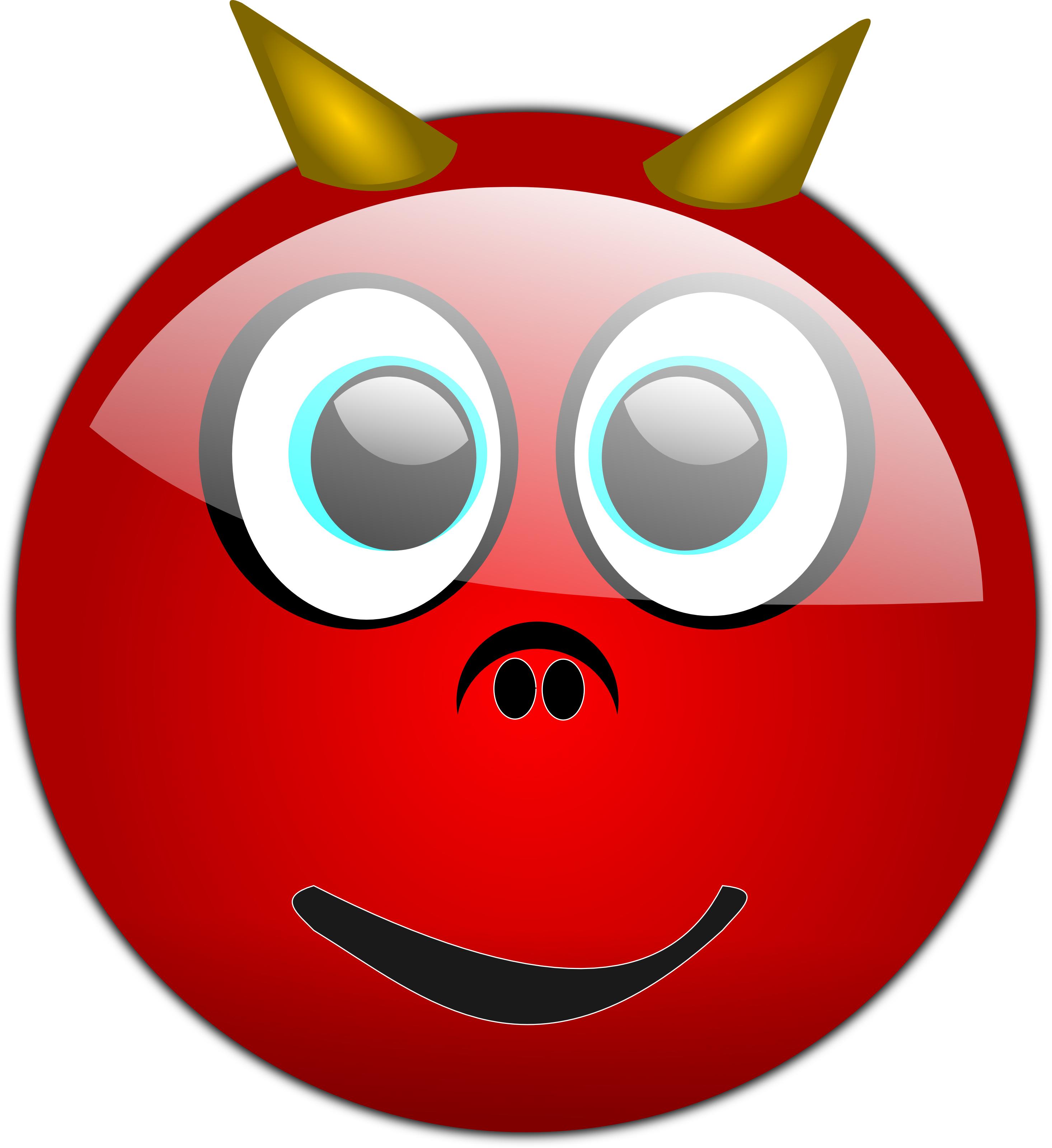 Devil Emoticon - Free Halloween Vector Clipart Illustration by 0001109
