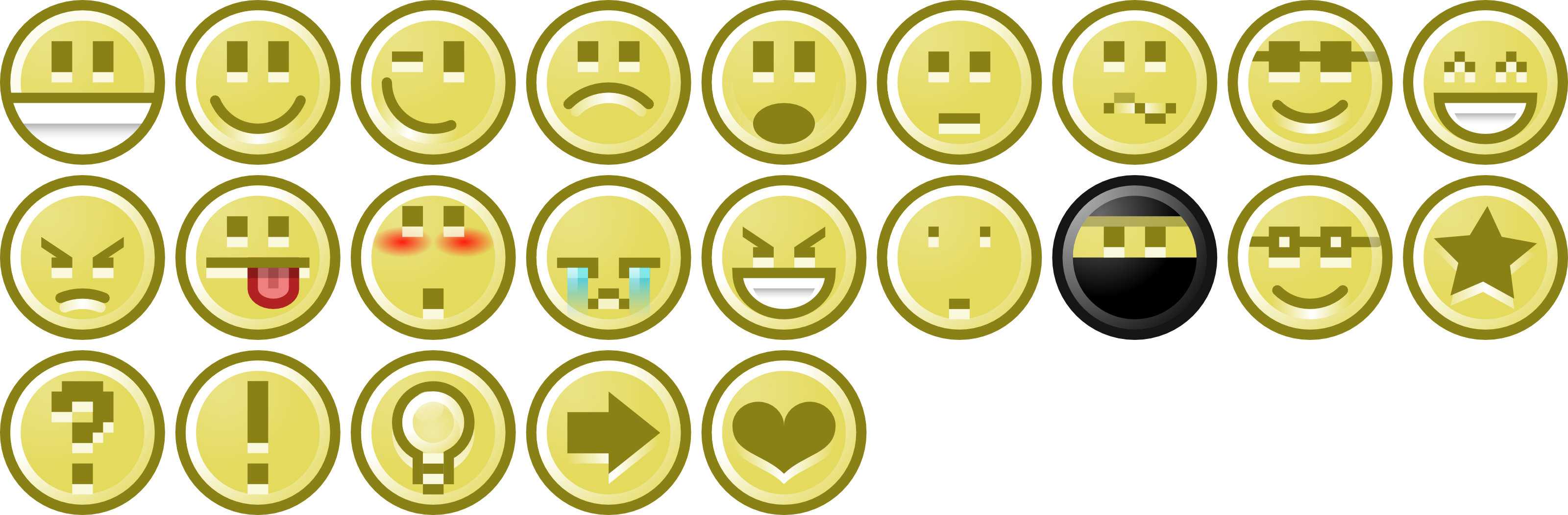 Free Vector Series Of Forum Smileys and Icons