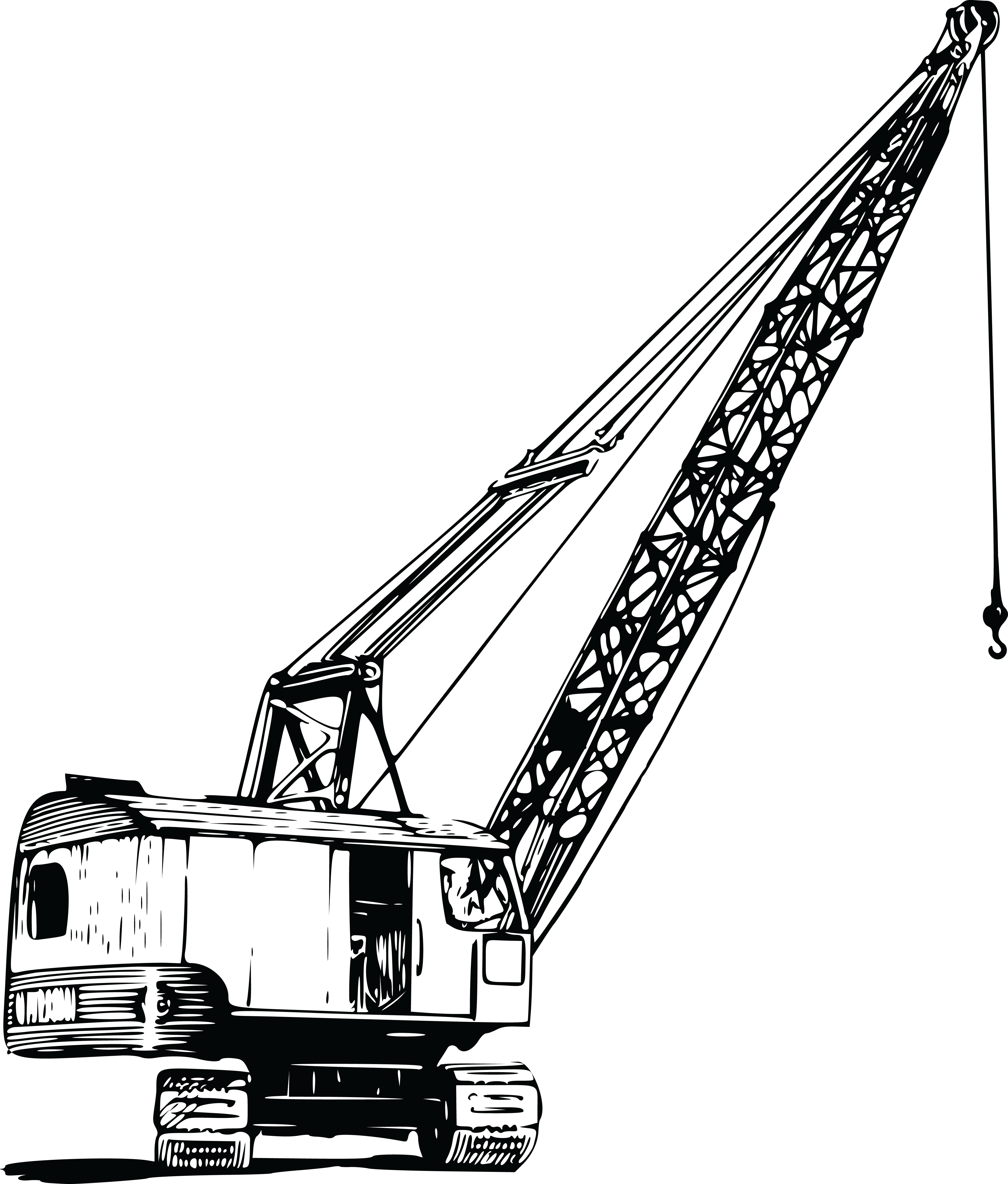 Free Clipart Of A Construction Crane