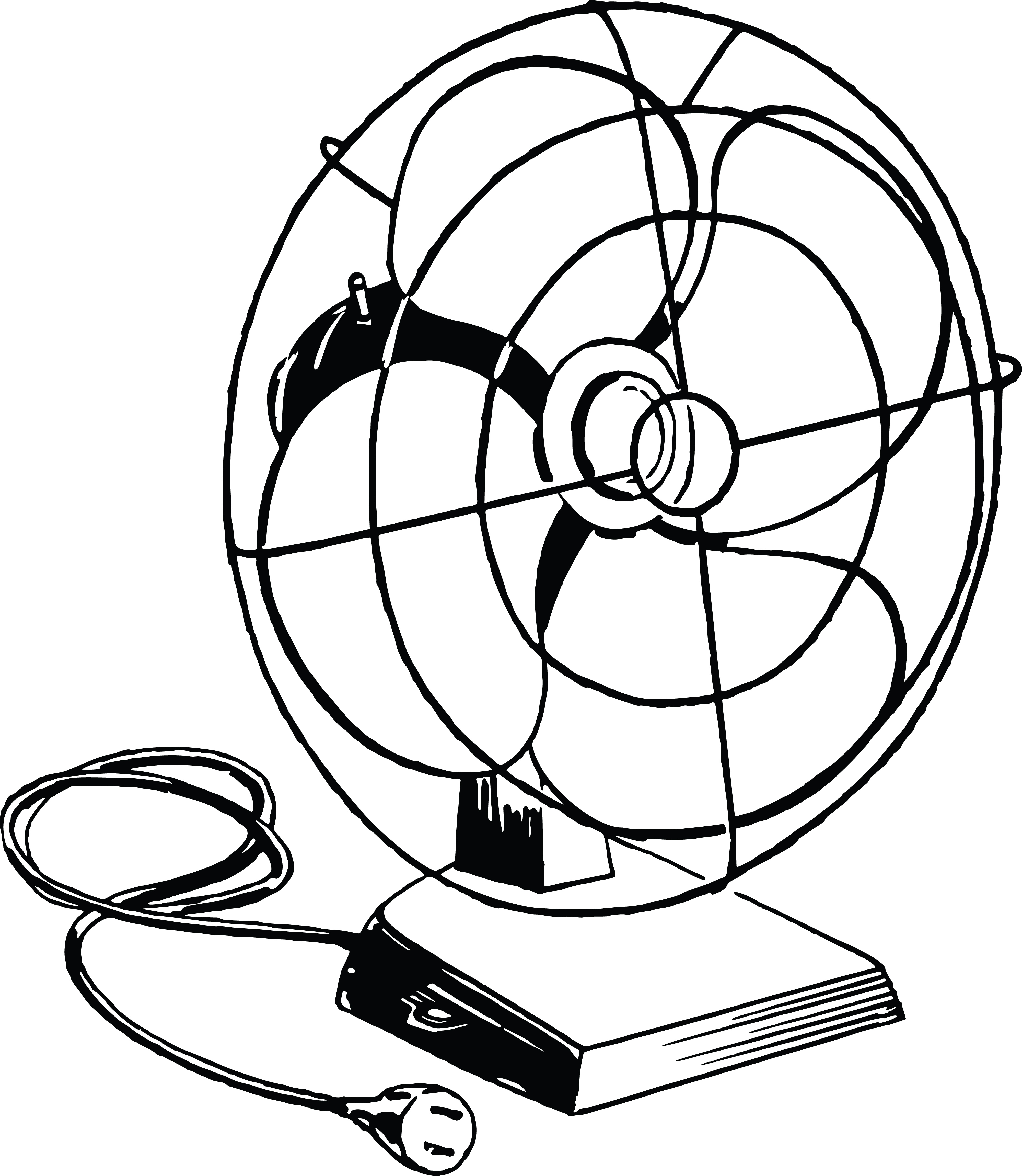 Free Clipart Of A Desk Fan