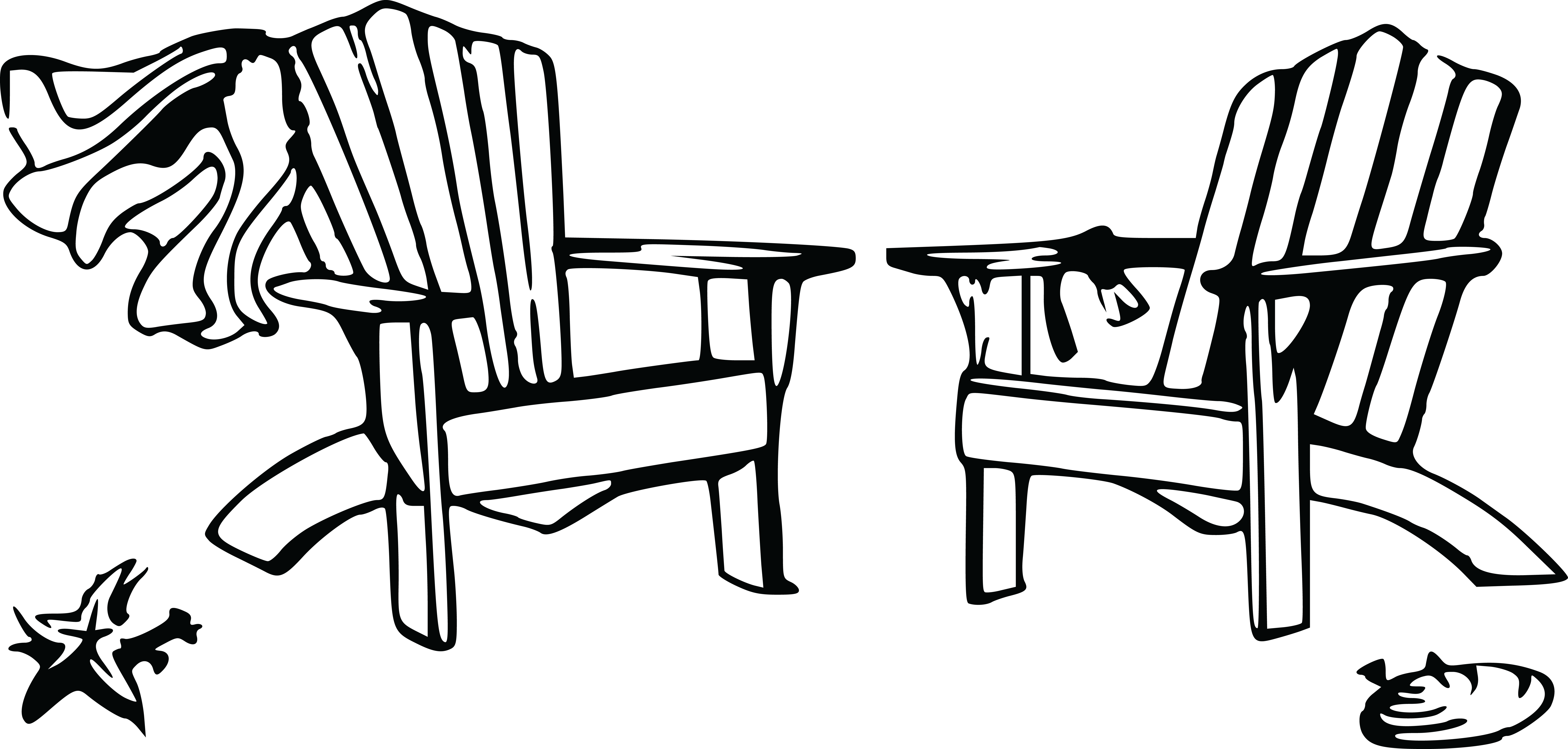 Wedding chairs black and white - Free Clipart Of A Wedding Couple Chairs Beach 00011122