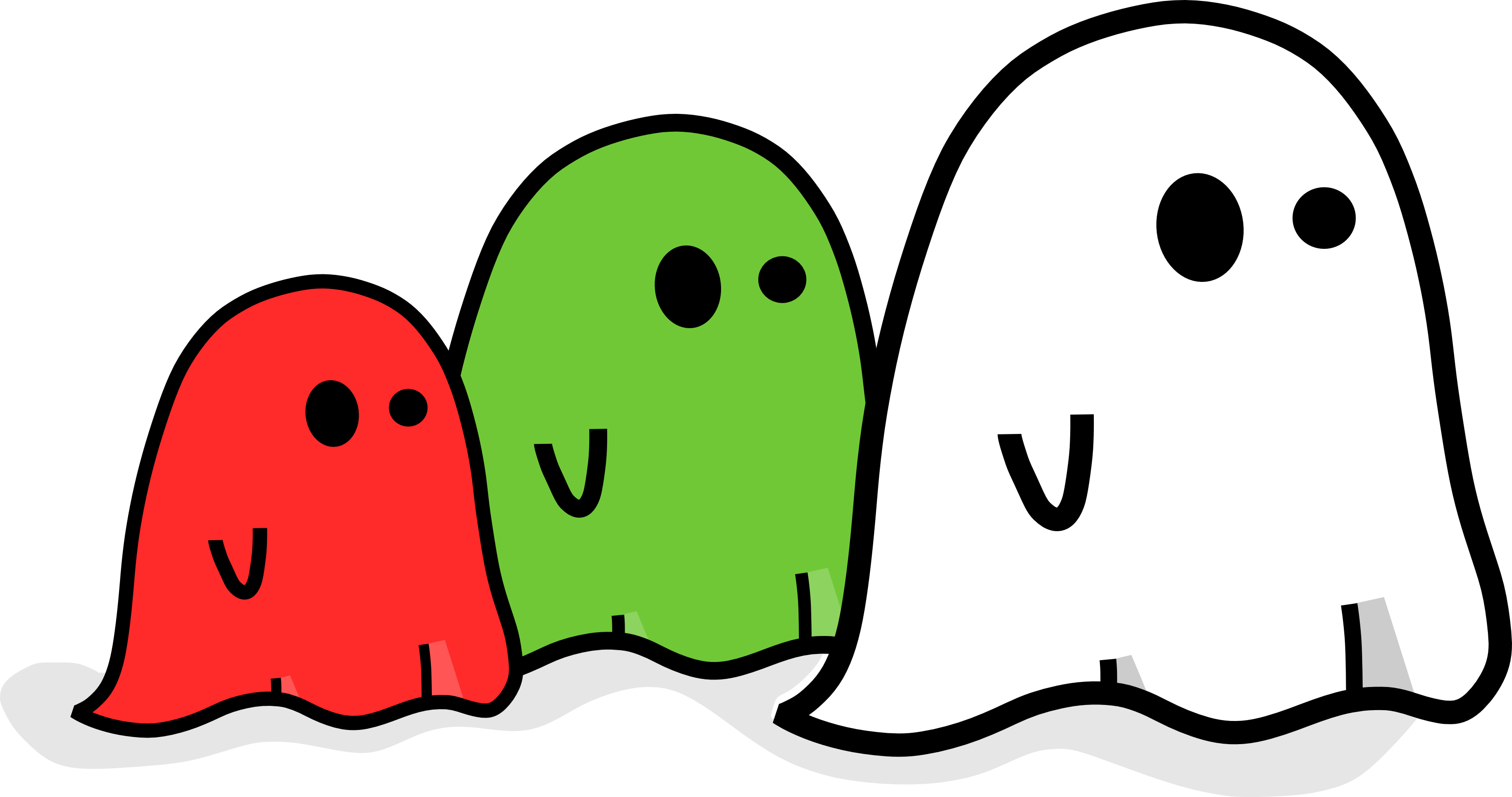Ghosts free halloween vector clipart illustration by 0001113
