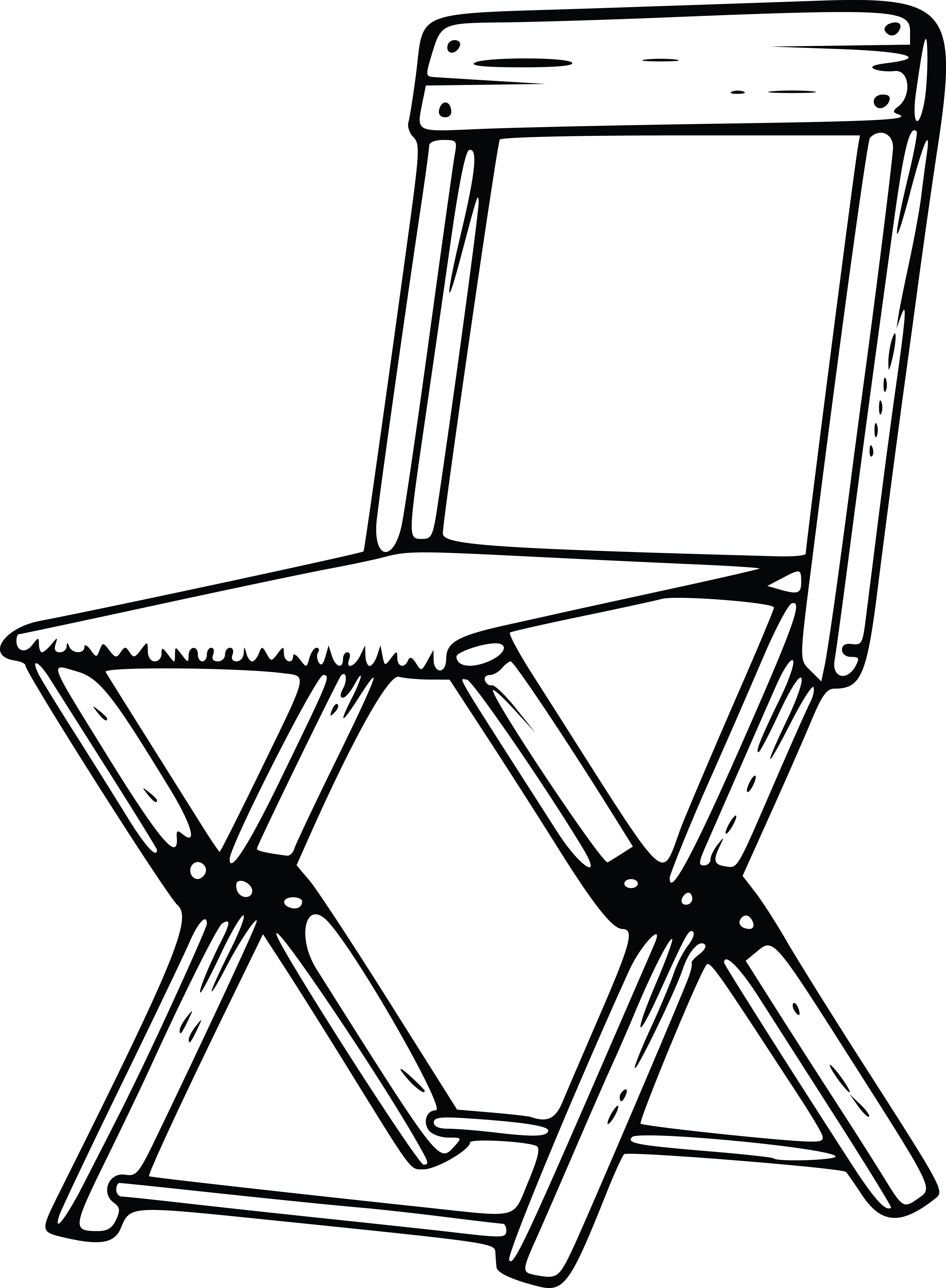 Clipart A Folding Camp Chair