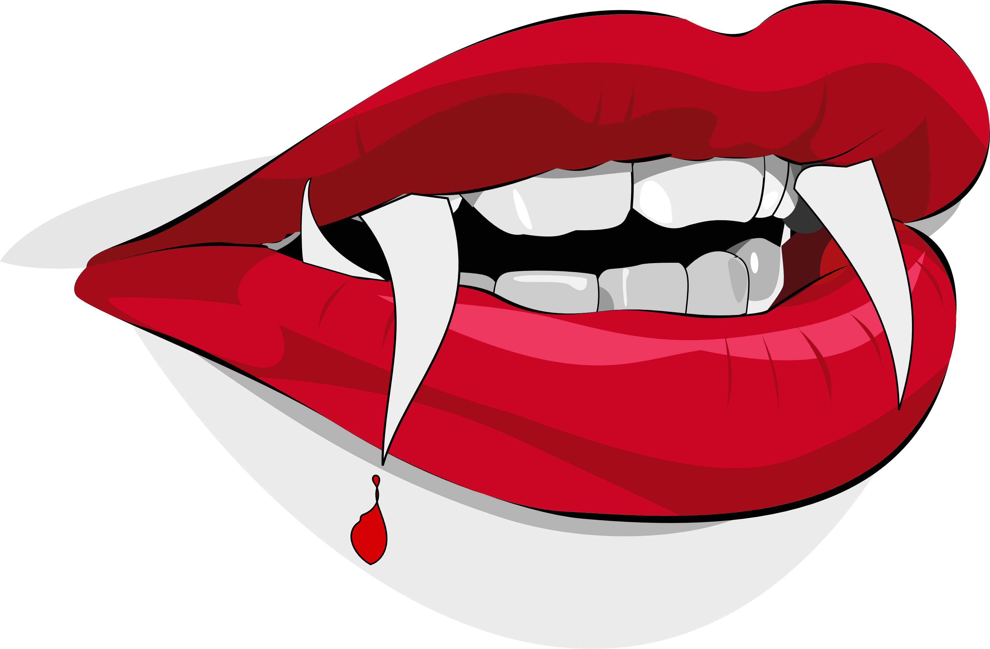 Bloody Vampire Lips - Free Halloween Vector Clipart Illustration by ...