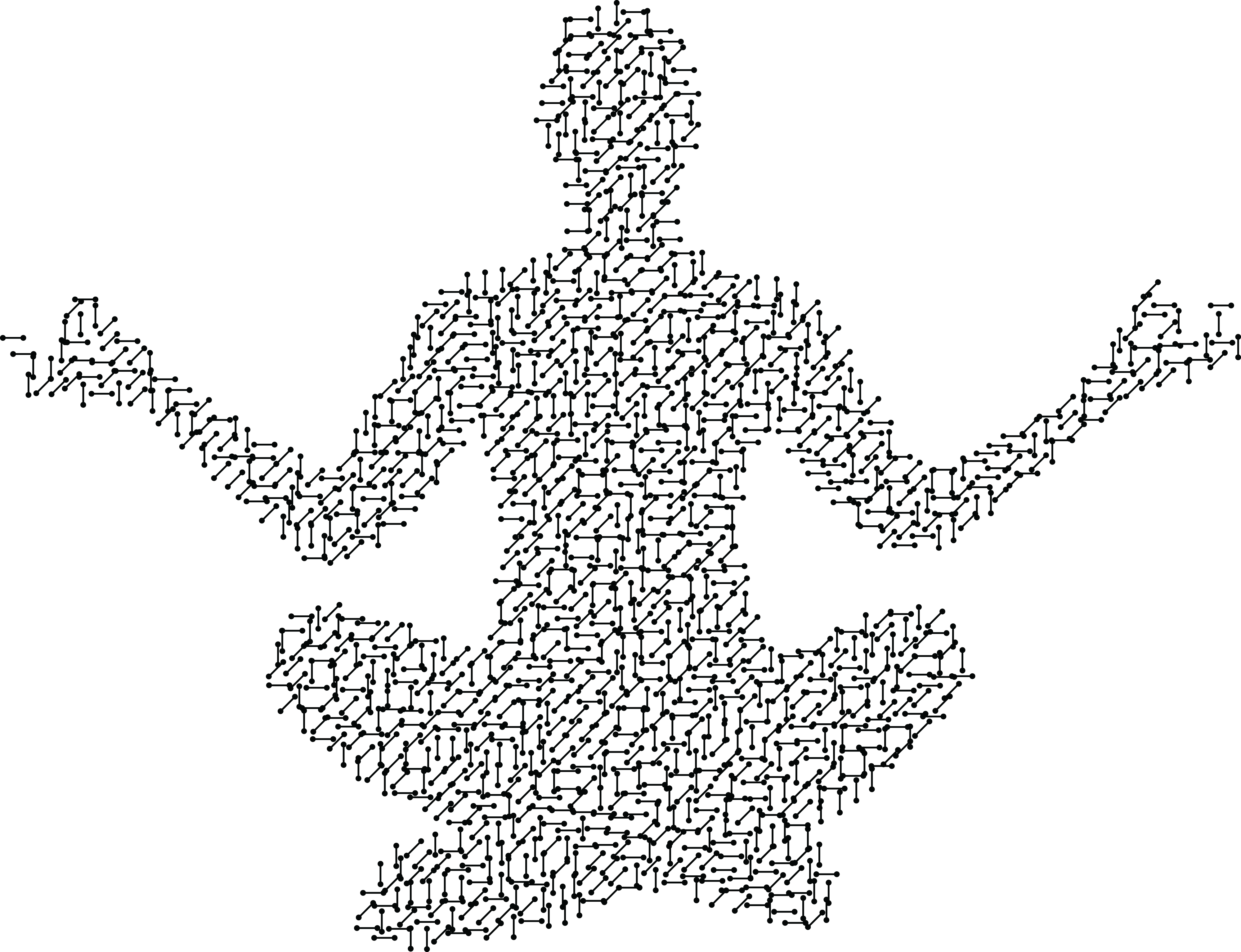 Free Clipart Of A Circuit Patterned Person Meditating