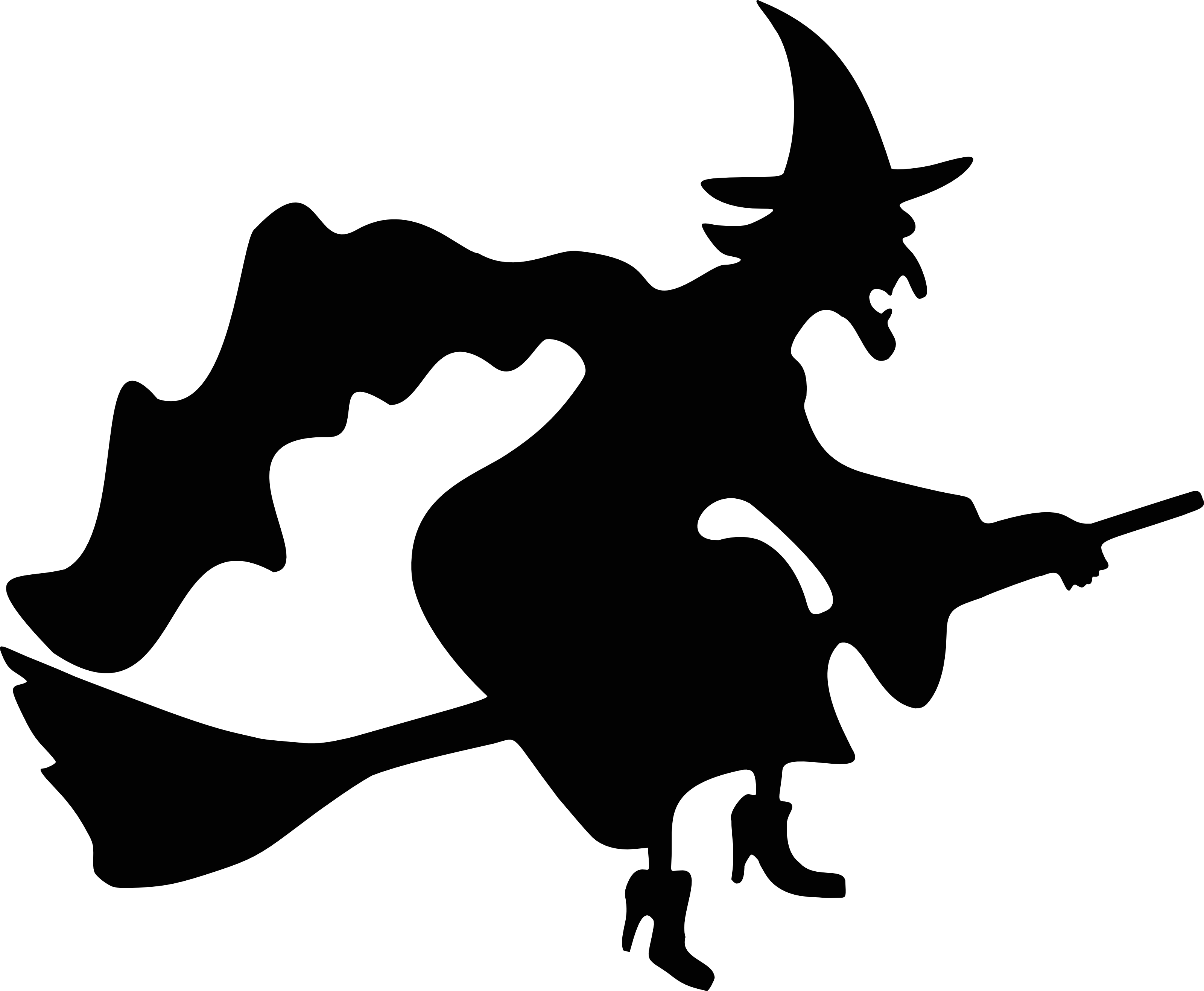 witch flying silhouette free halloween vector clipart illustration rh free clipartof com halloween vector art halloween vector art free