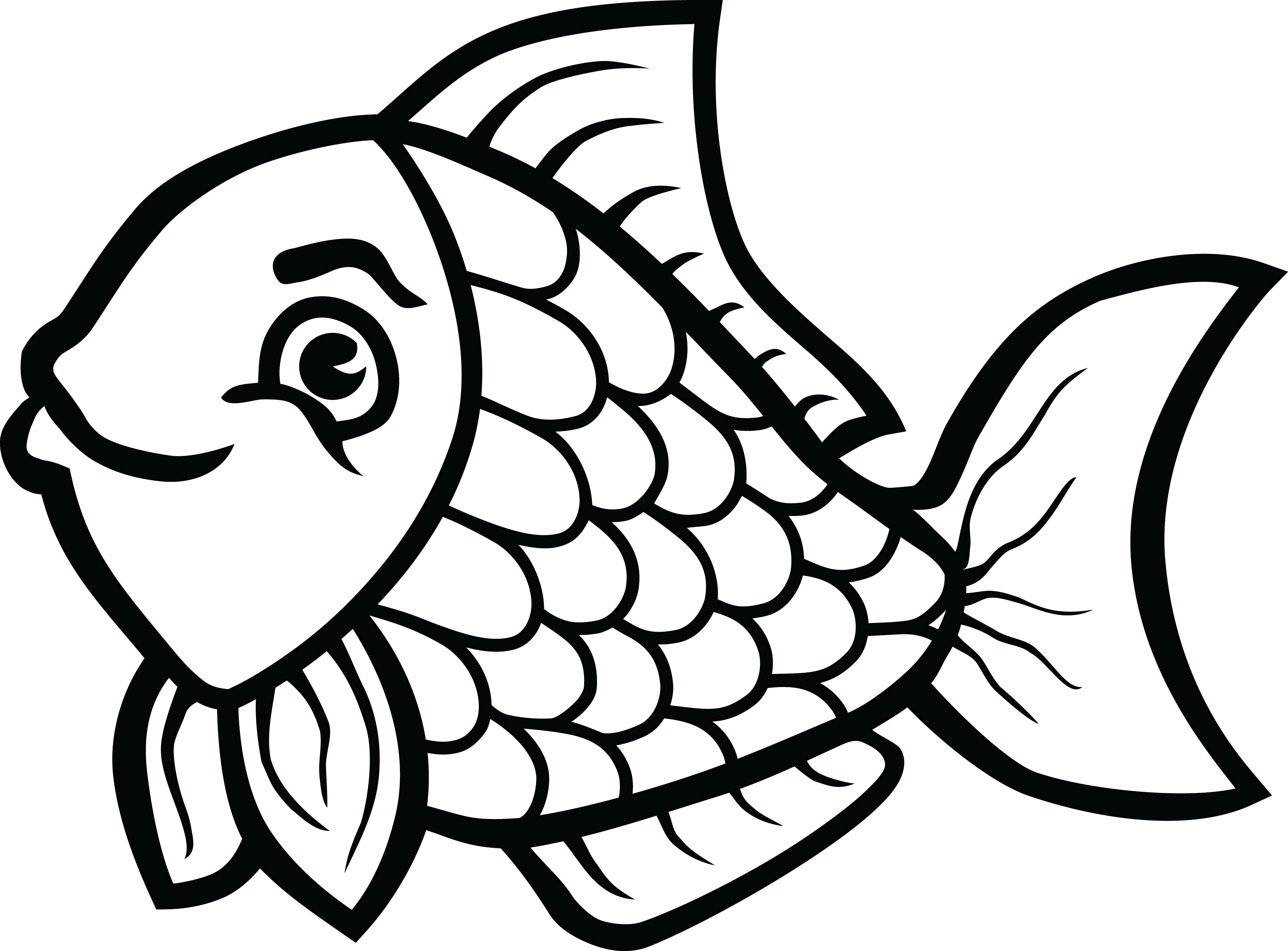 free clipart of a fish rh free clipartof com black and white fish clip art free fish clipart black and white