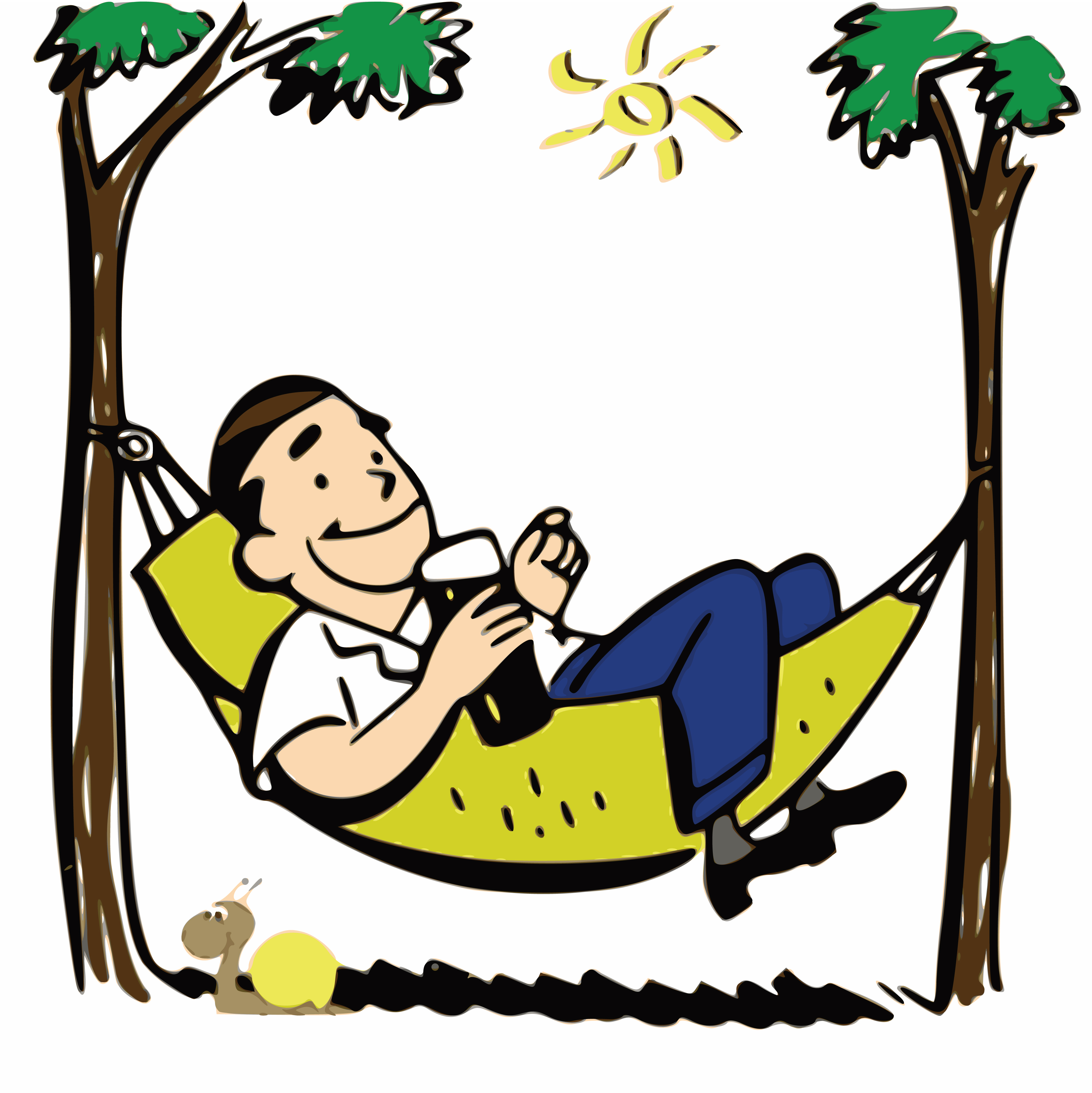 free clipart of a man relaxing in a hammock rh free clipartof com woman relaxing clipart woman relaxing clipart