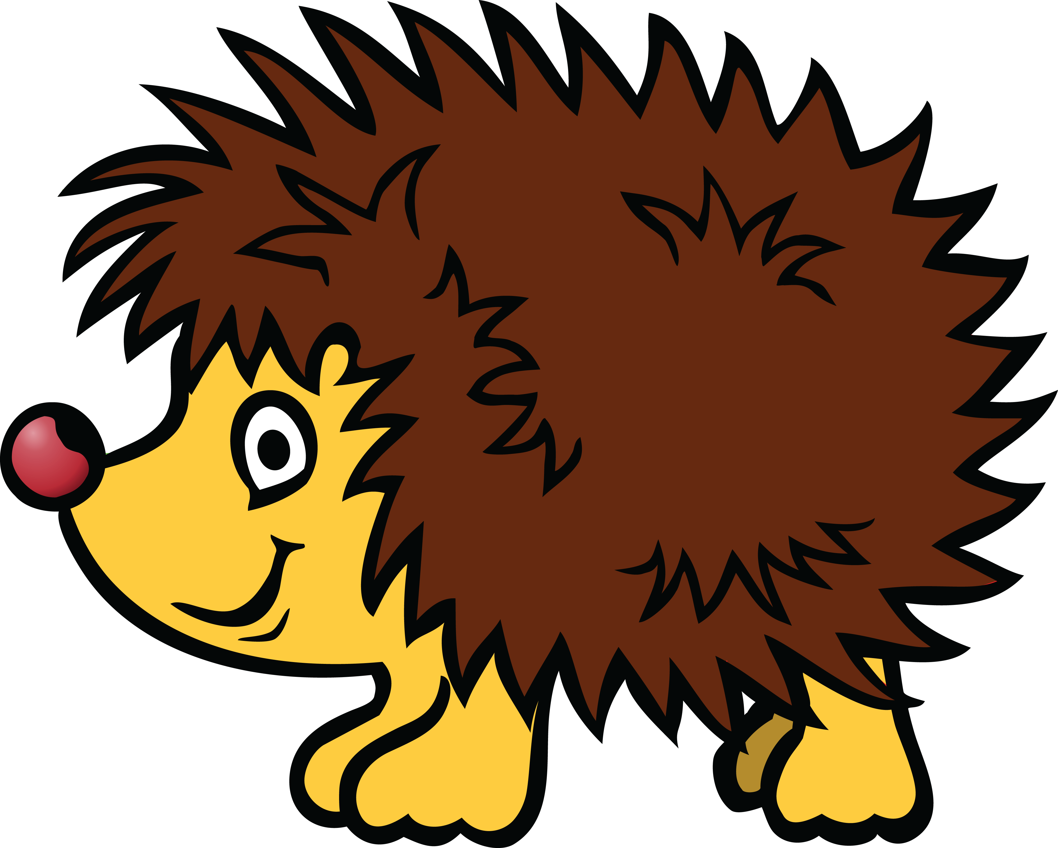 free clipart of a hedgehog rh free clipartof com hedgehog clipart outline hedgehog clipart black and white