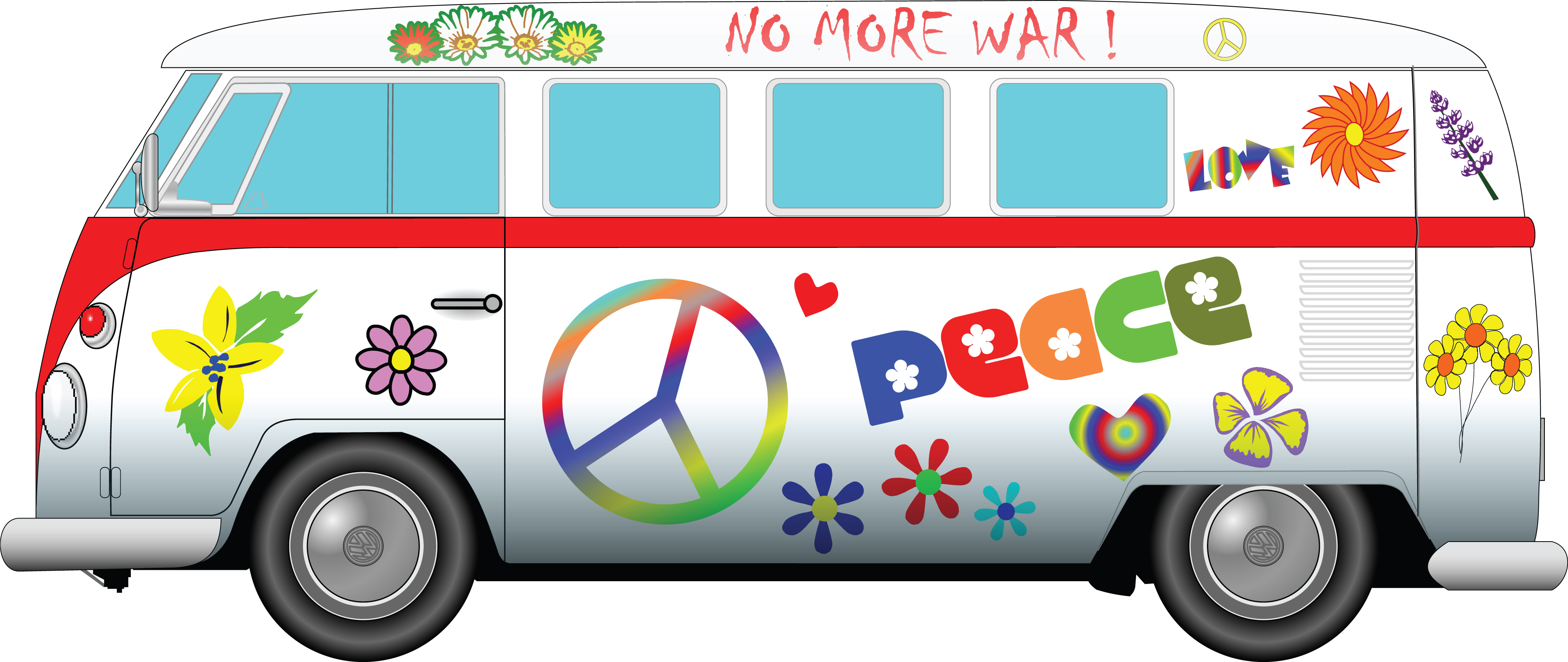 free clipart of a volkswagen bus rh free clipartof com vw bus clipart volkswagen bus clipart