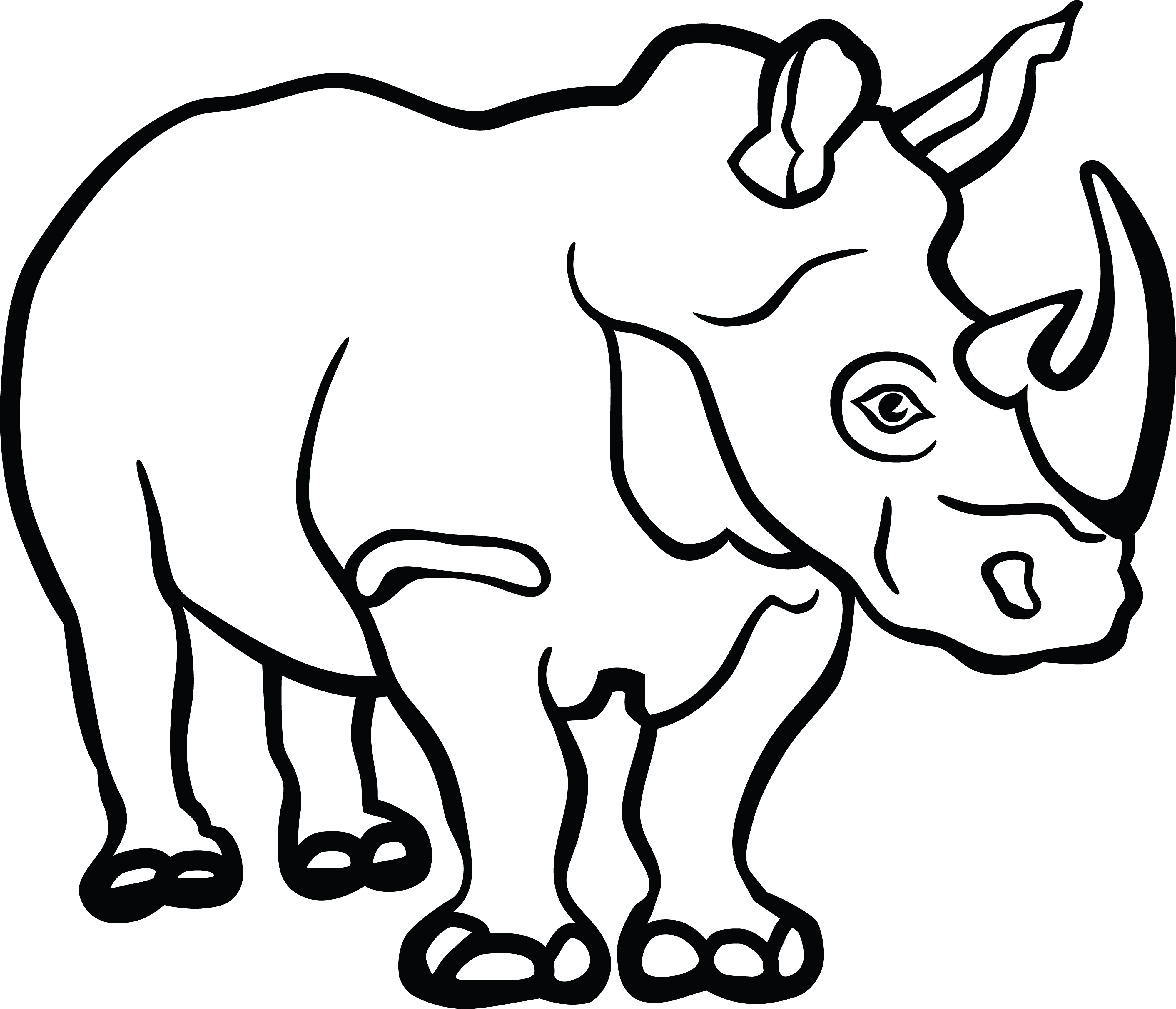 Free Clipart Of A Rhino