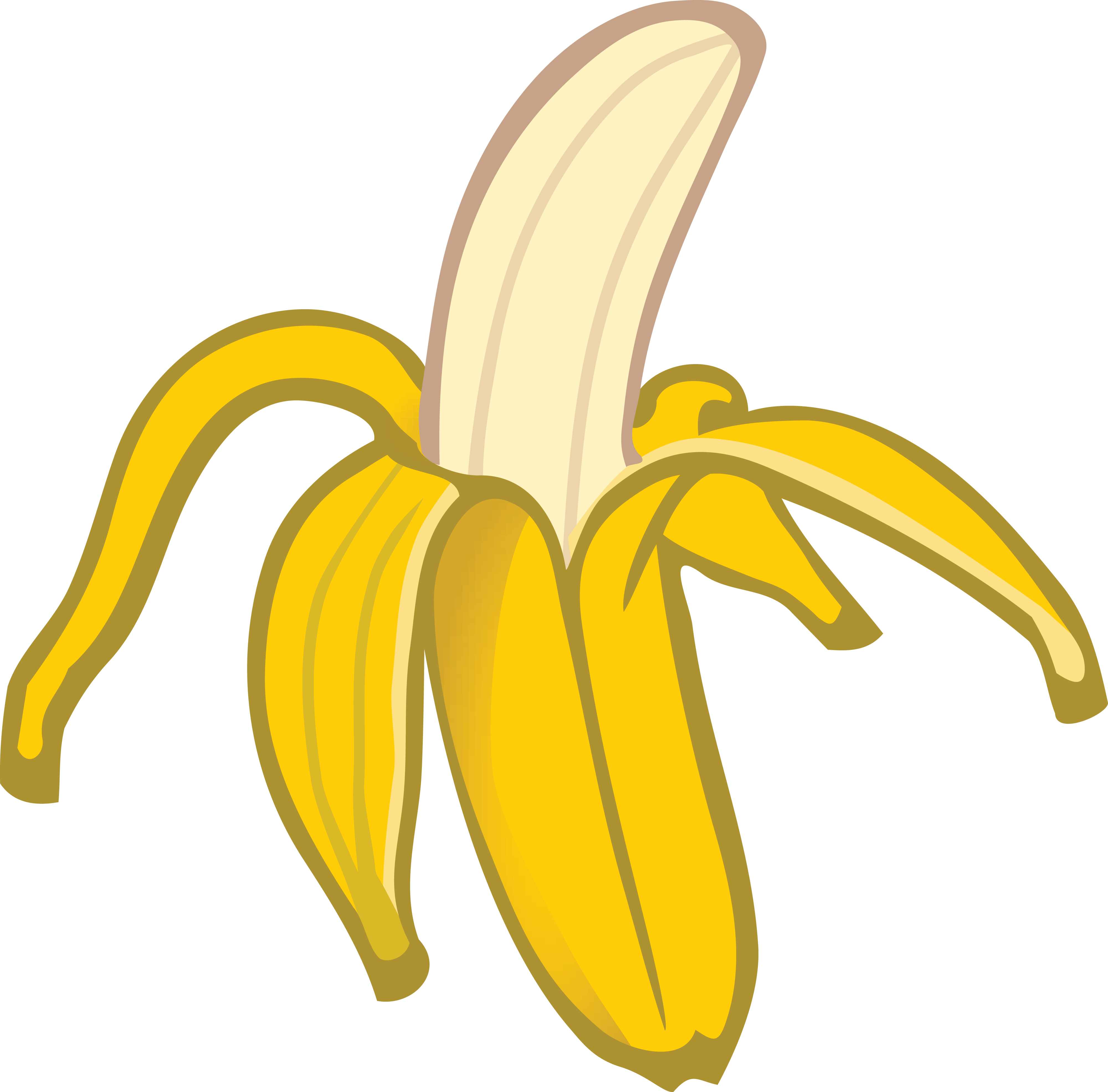 free clipart of a banana rh free clipartof com banana clip art pictures banana clip art black and white