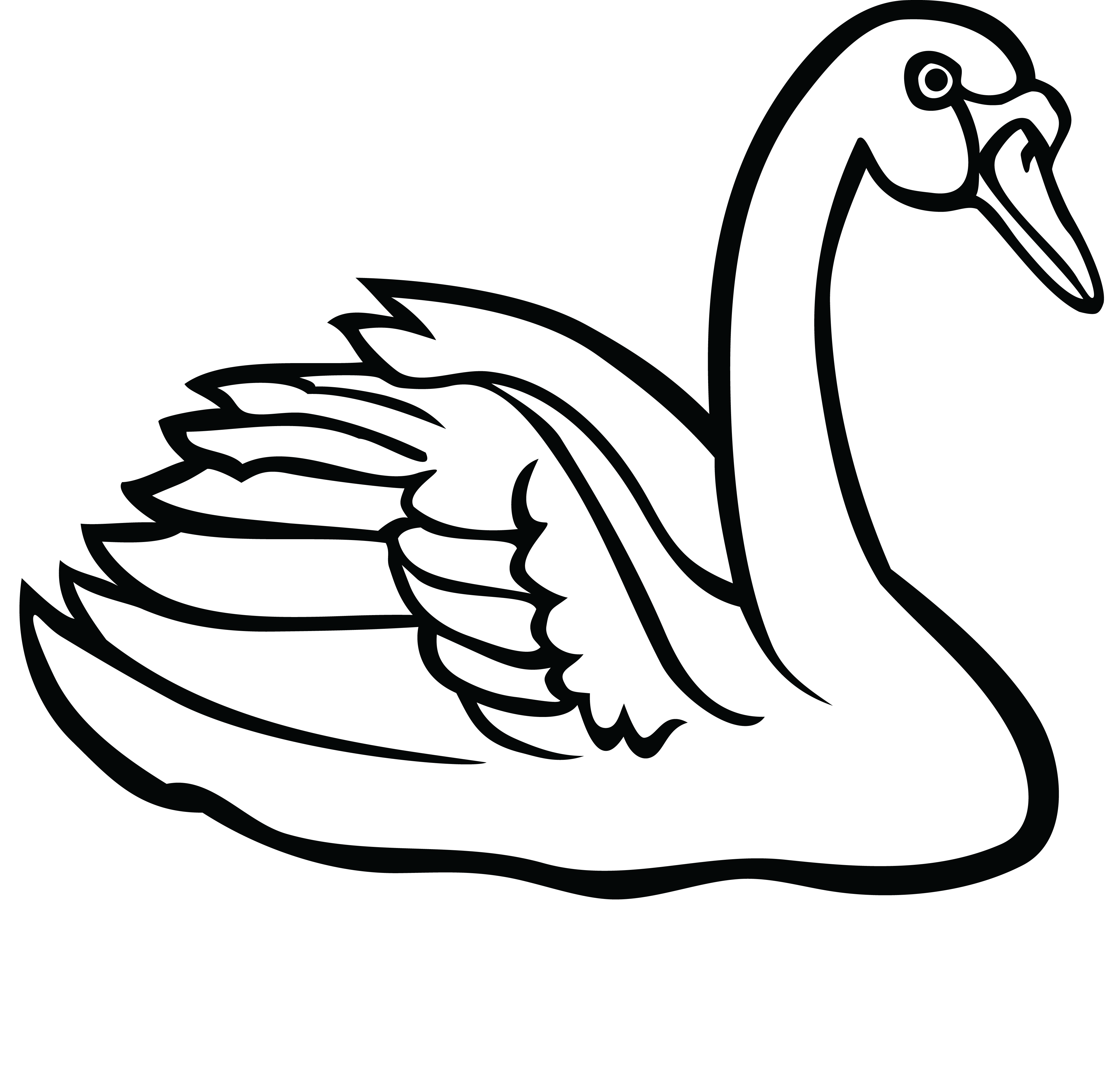 free clipart of a swan rh free clipartof com swan clipart png swan clipart black and white
