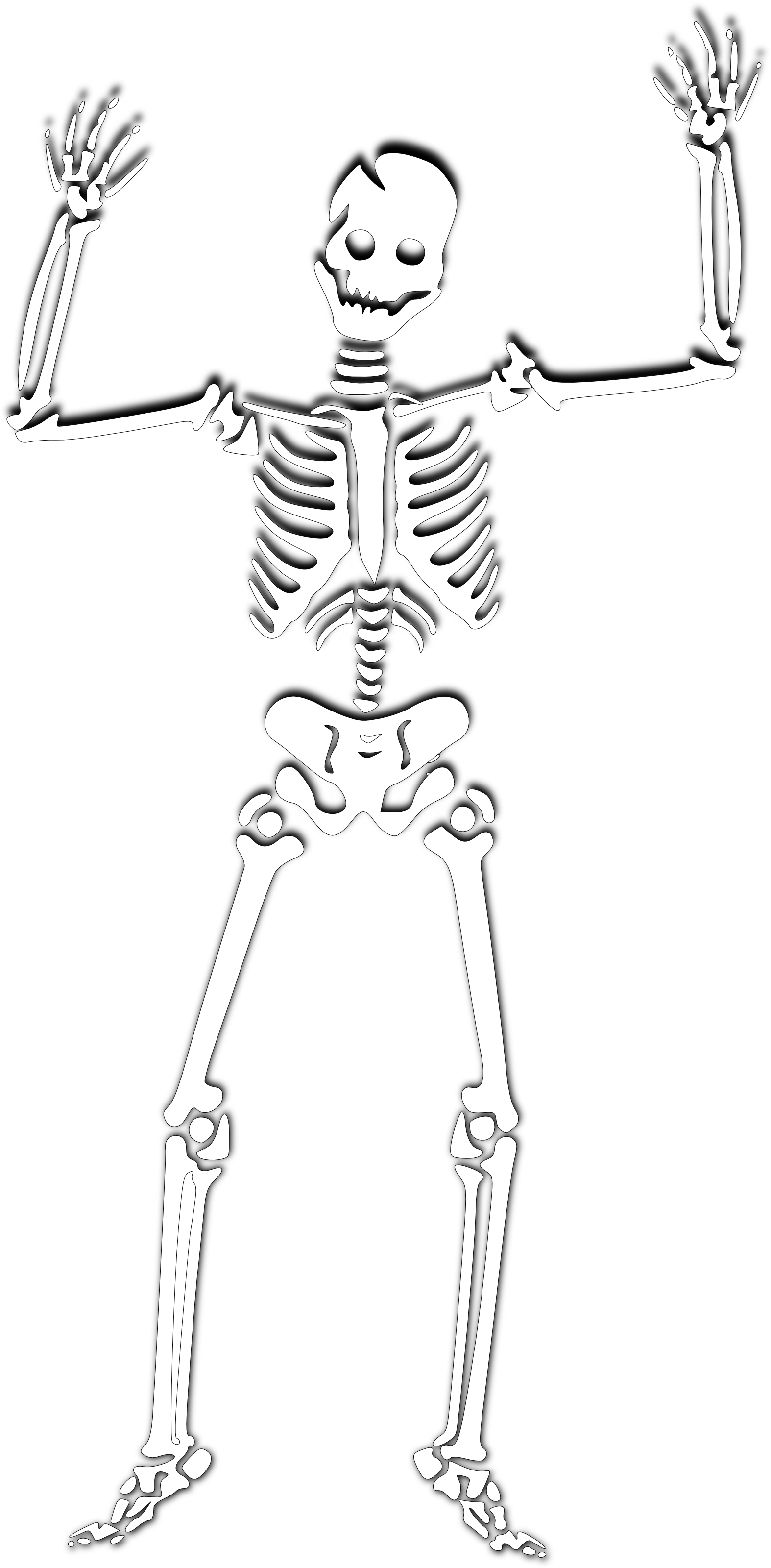 Skeleton - Free Halloween Clipart Illustration by 0001136