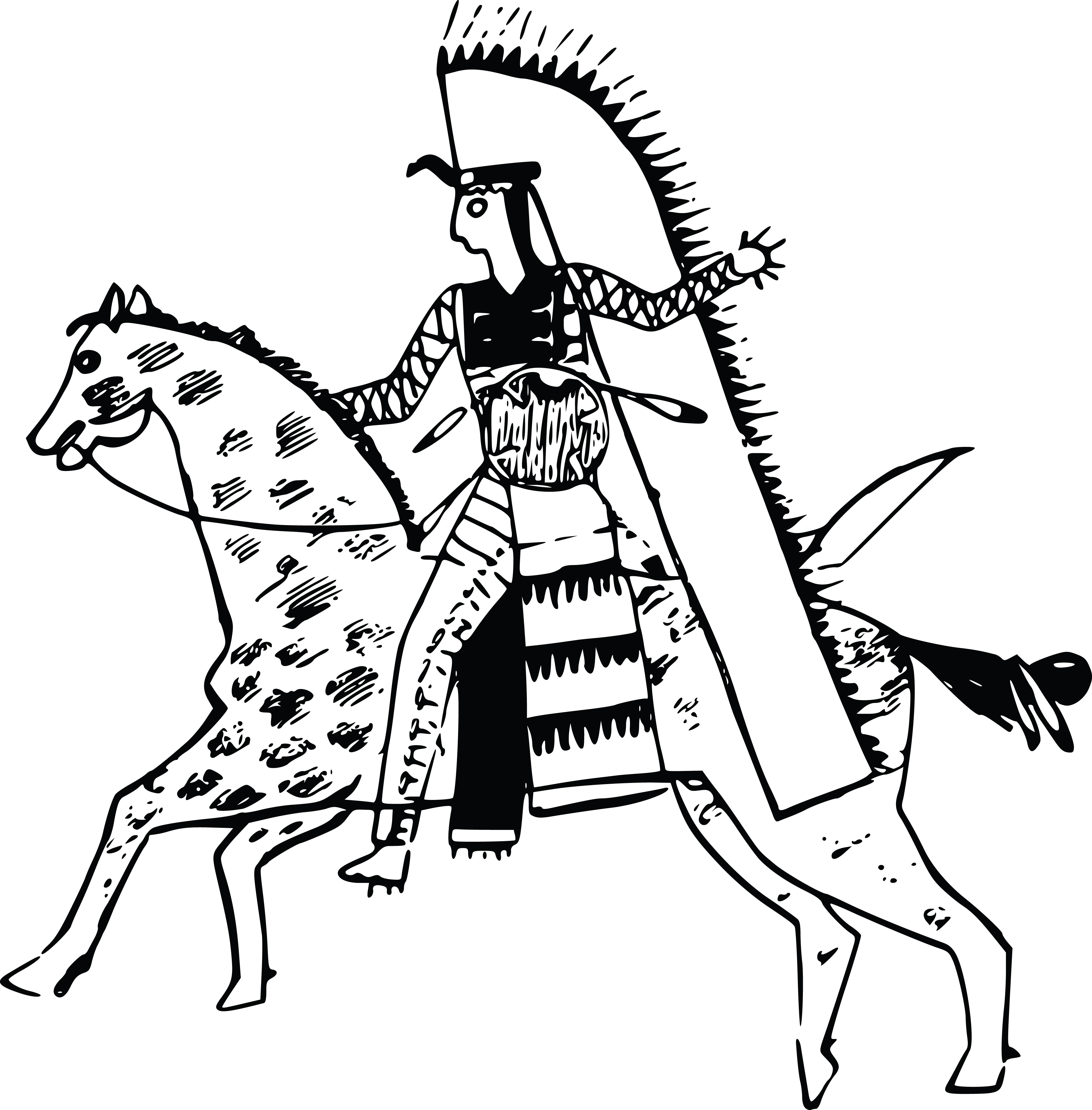 clipart of a native american indian