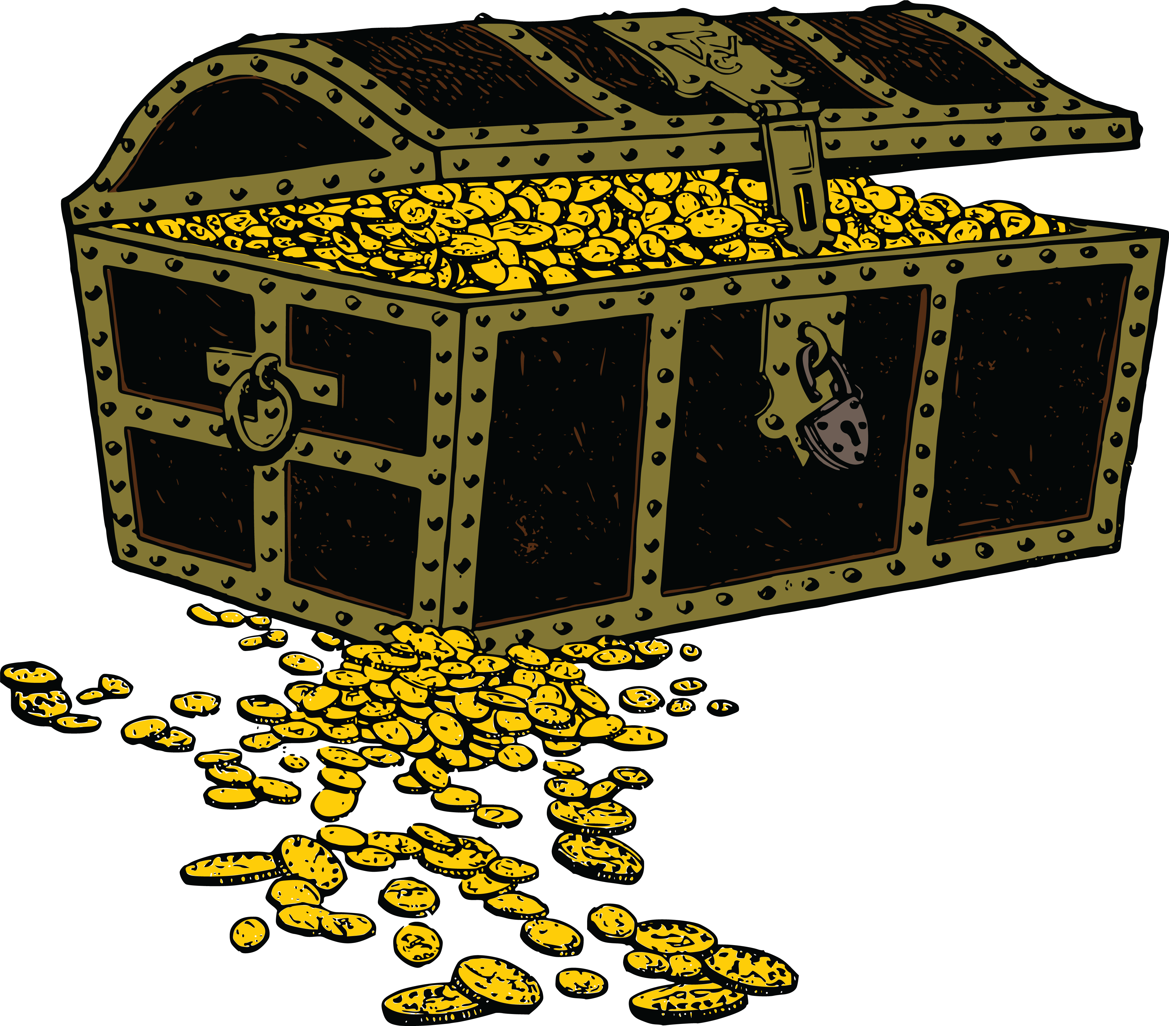 Free Clipart Of A treasure chest