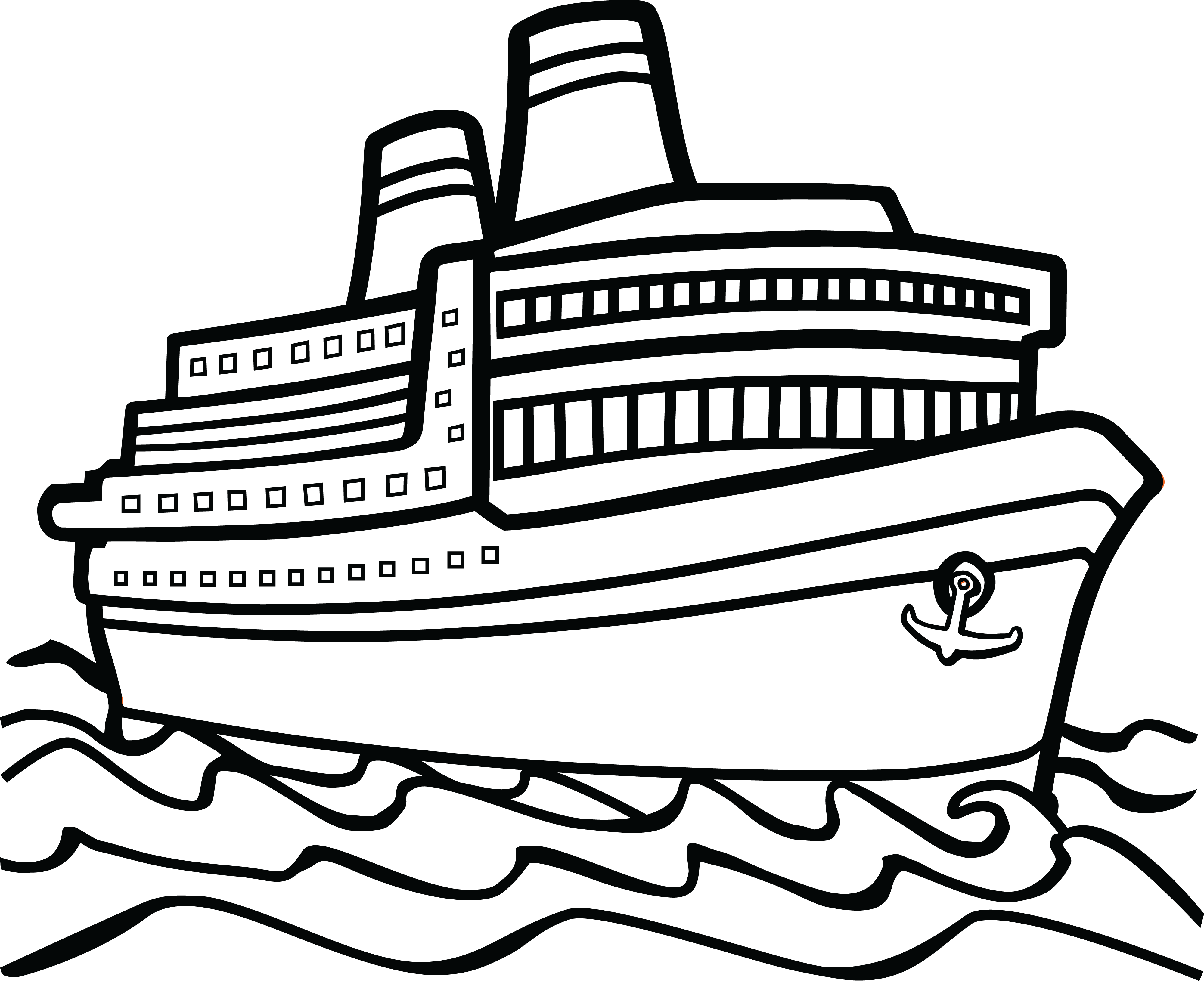 Free Clipart Of A Cruise Boat 00011422