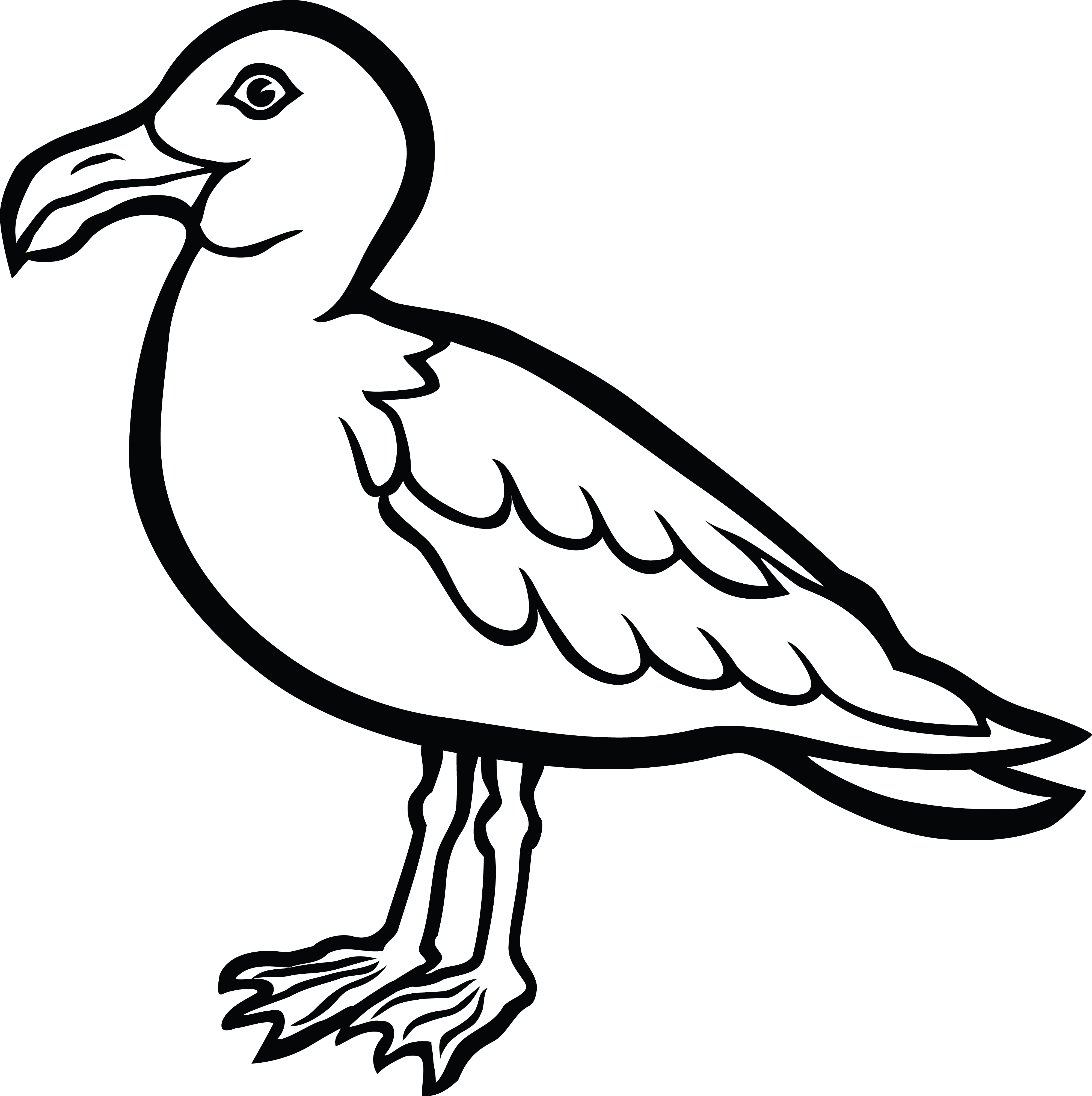 free clipart of a seagull bird rh free clipartof com seagull clipart black and white seagull clipart black and white