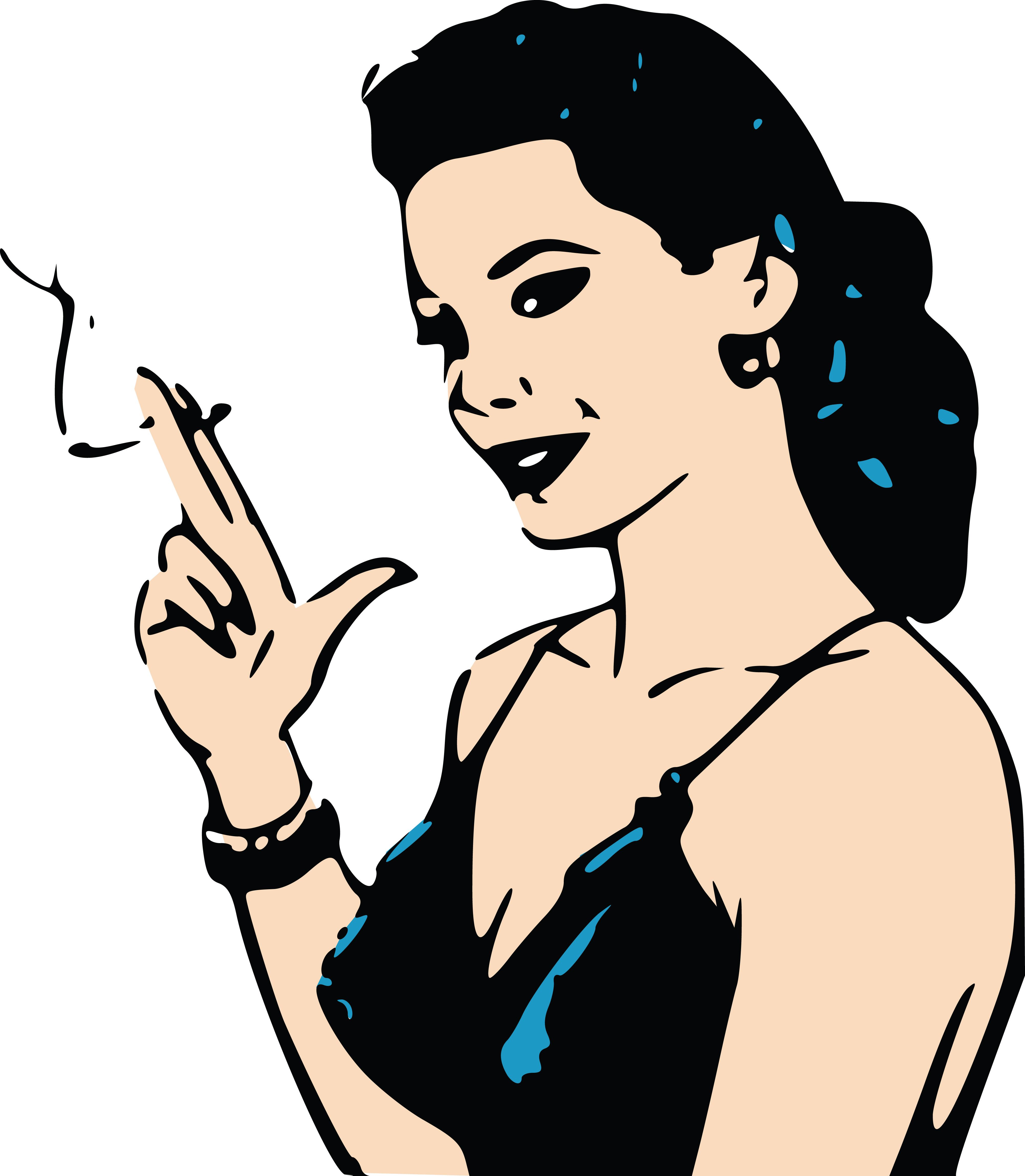 free clipart of a retro woman smoking a cigarette rh free clipartof com vintage retro clipart woman