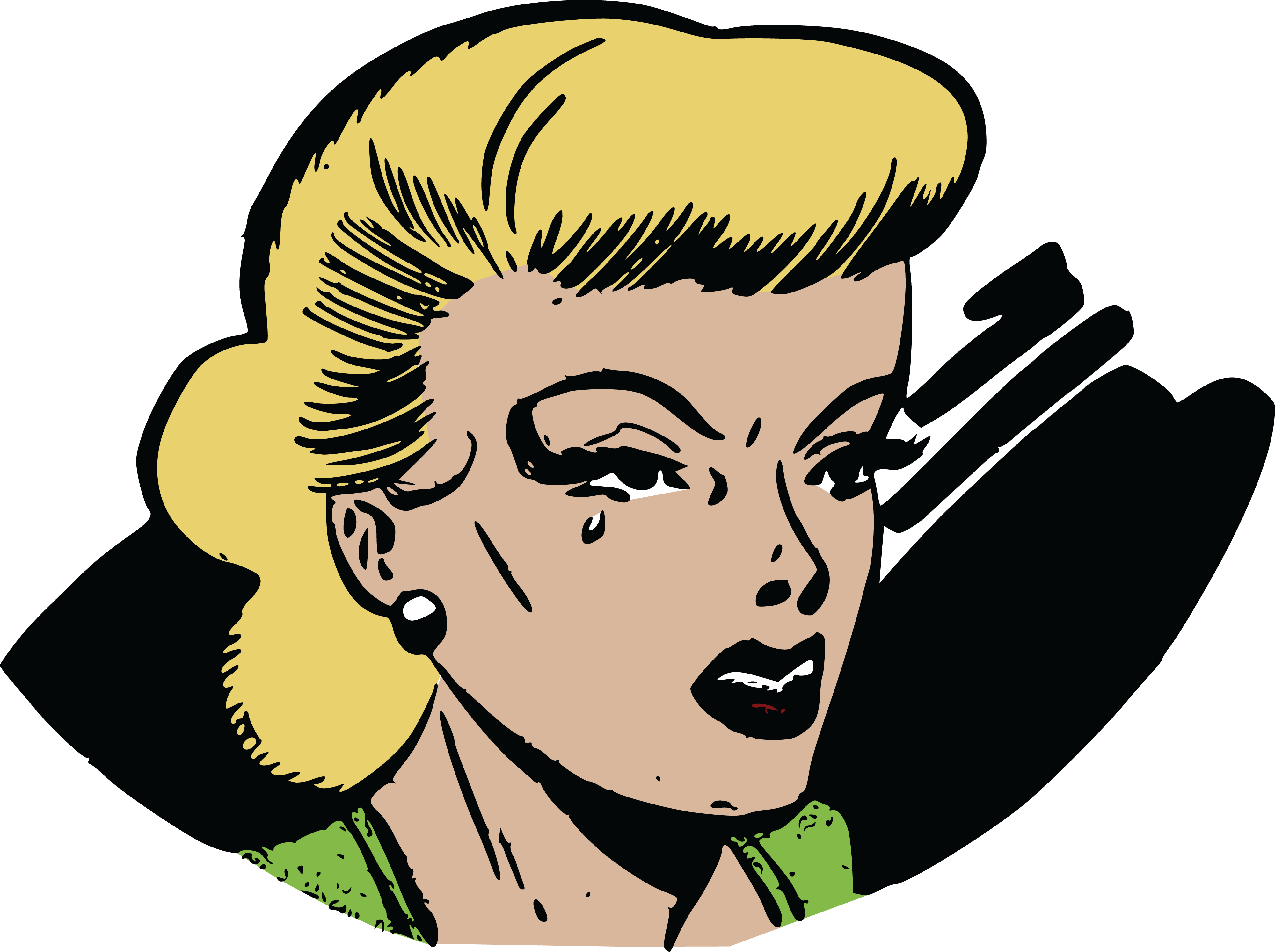 free clipart of a pop art comic styled woman crying pretty girl face clipart pretty girl clipart
