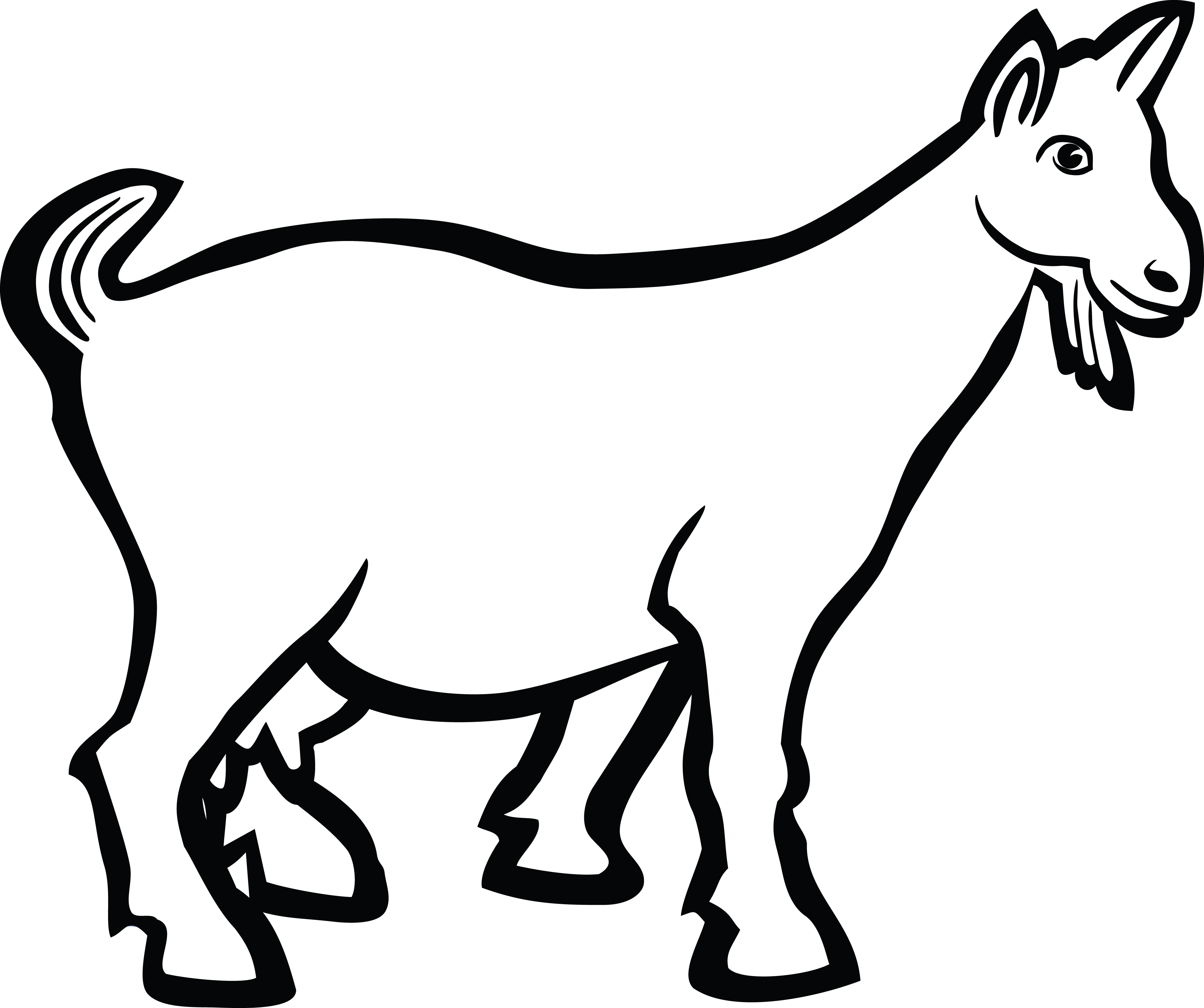 Free Clipart Of A goat