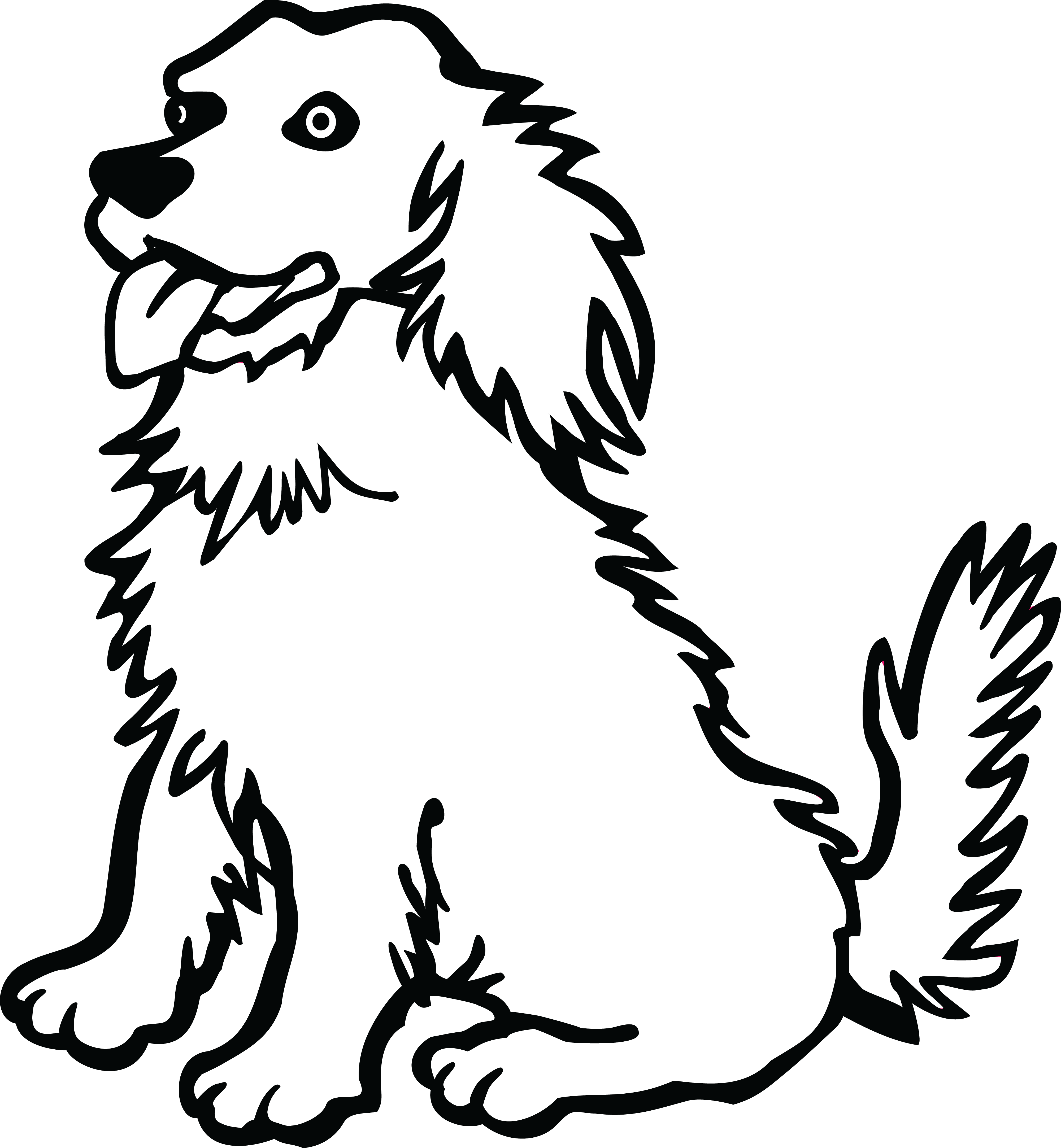 free clipart of a dog rh free clipartof com dog clipart free black and white dog images free clipart