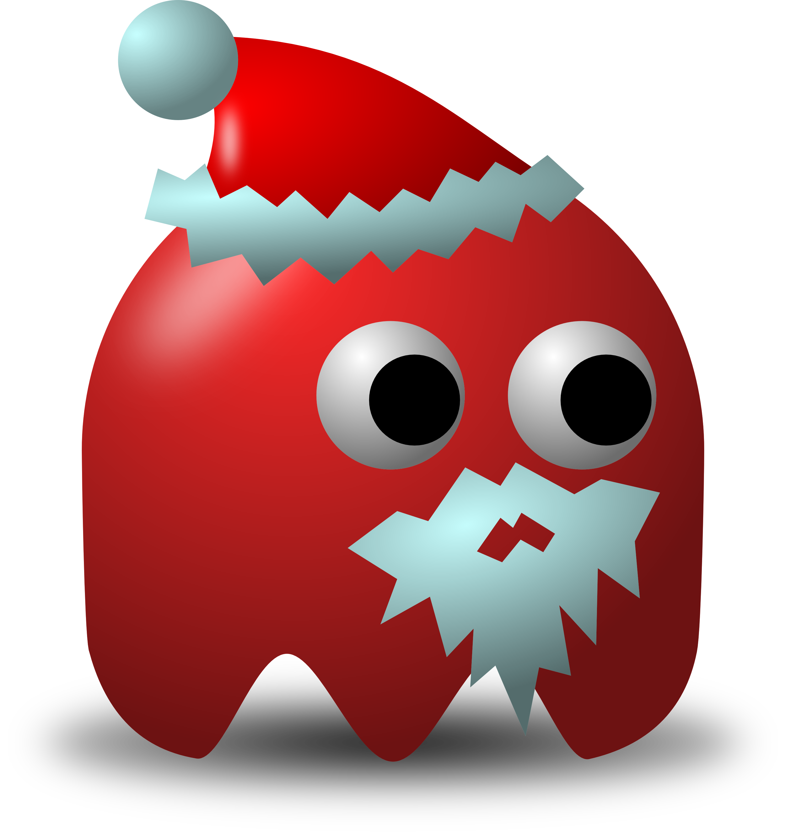 Free Christmas vector graphic of a Santa avatar wearing a hat and gray ...