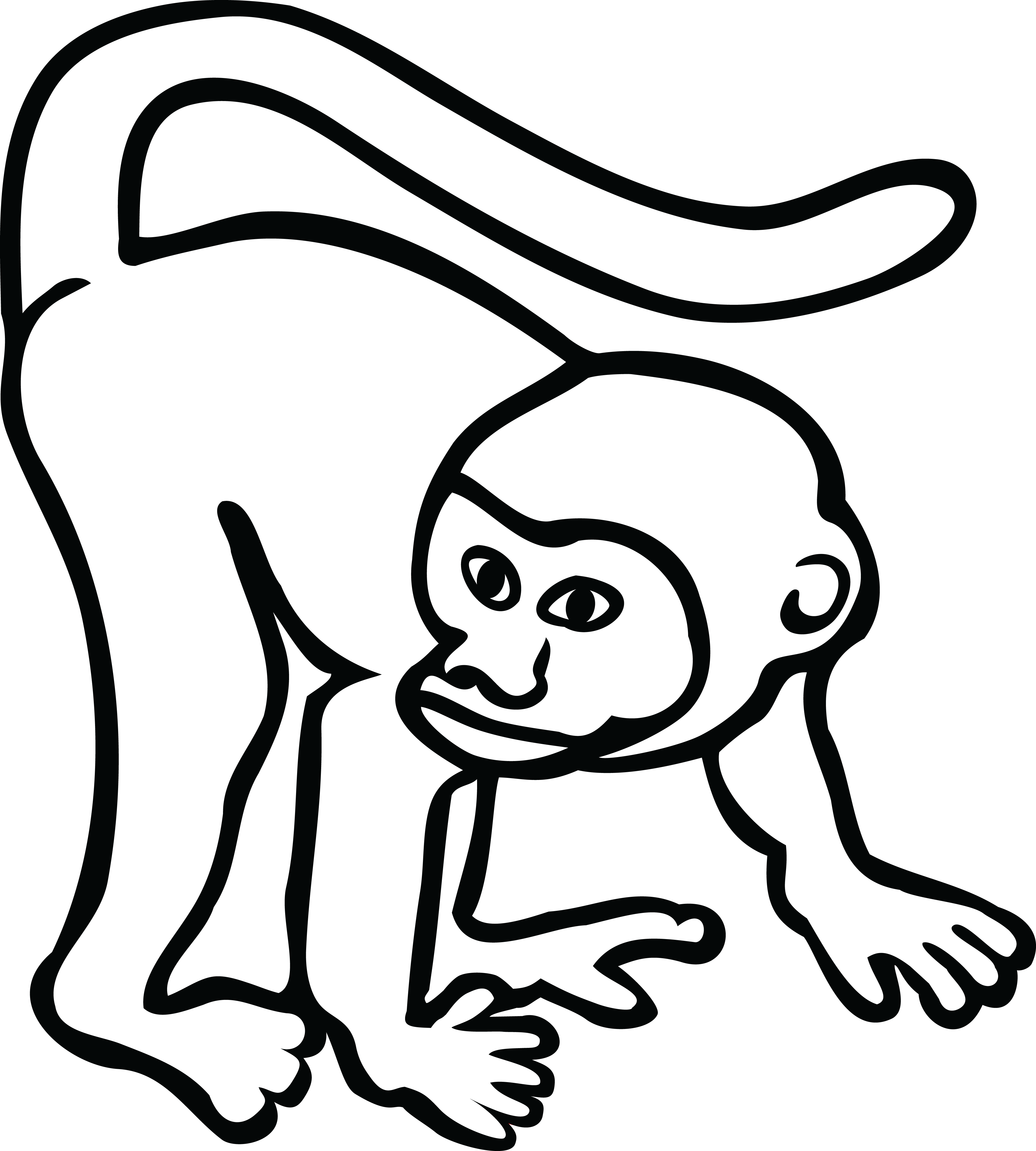 Free Clipart Of A Monkey 00011490
