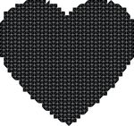 Free Clipart Of A Mosaic Heart In Black