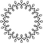 Free Clipart Of A Black And White Round Invitation Border