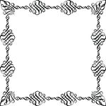 Free Clipart Of A Black And White Square Invitation Border