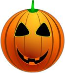 Grinning Jackolantern Free Halloween Vector Clipart Illustration