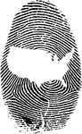 Free Clipart Of A Thumb Print With The United States