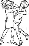 Free Clipart Of A Boy And Girl Fighting