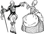 Free Clipart Of A Vintage Couple Ballroom Dancing
