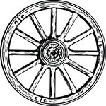 Free Clipart Of A Wagon Wheel