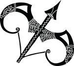 Free Clipart Of A Horoscope Astrology Zodiac Sagittarius Bow And Arrow