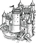 Free Clipart Of A Fortress