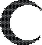 Free Clipart Of A Mosaic Crescent Moon