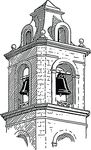Free Clipart Of A Belfry