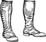 Free Clipart Of A Pair Of Boots