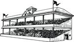 Free Clipart Of A Busy Grandstand